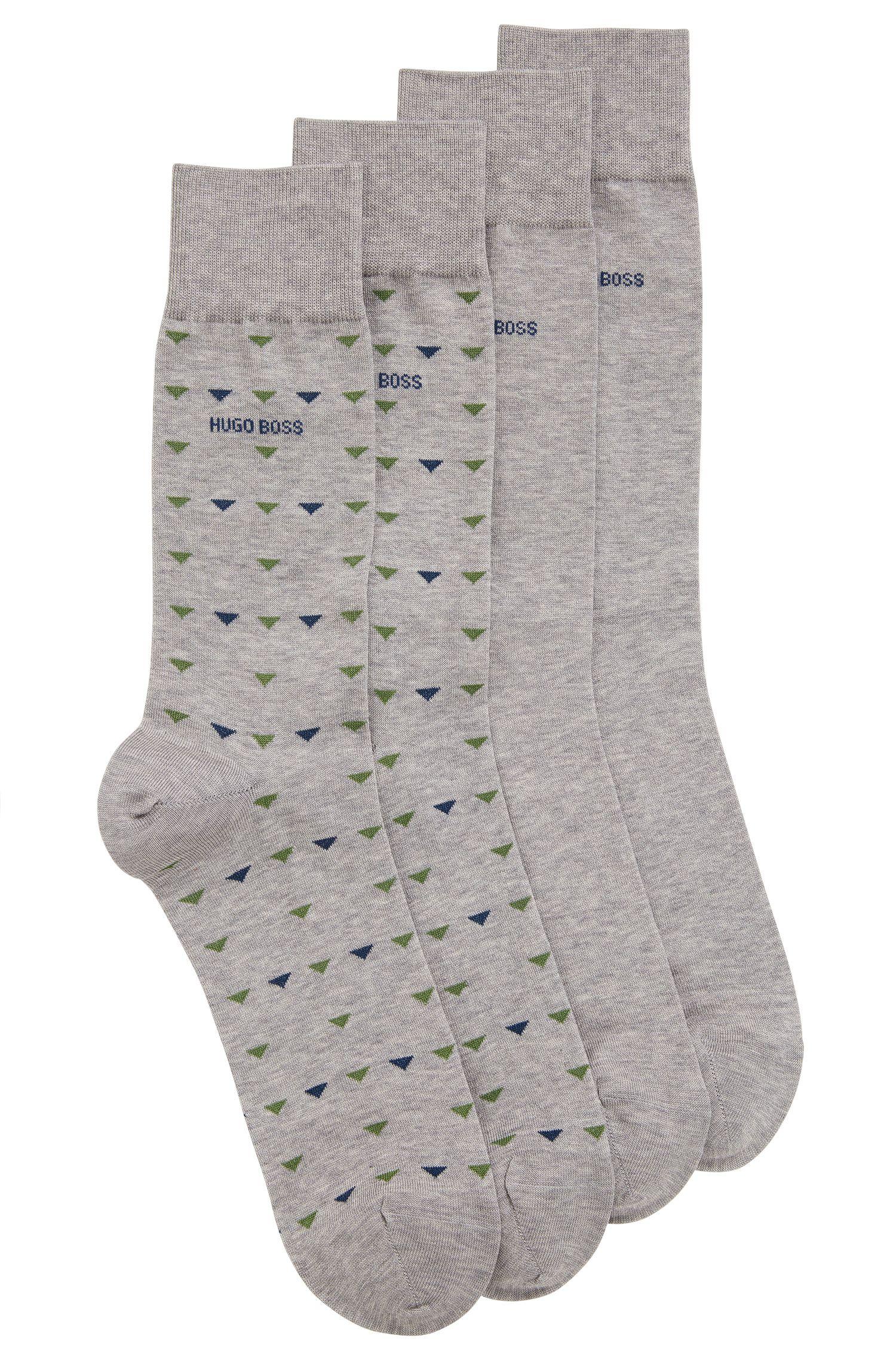 Stretch Cotton Socks, 2 Pack   2P RS Triangle US MC