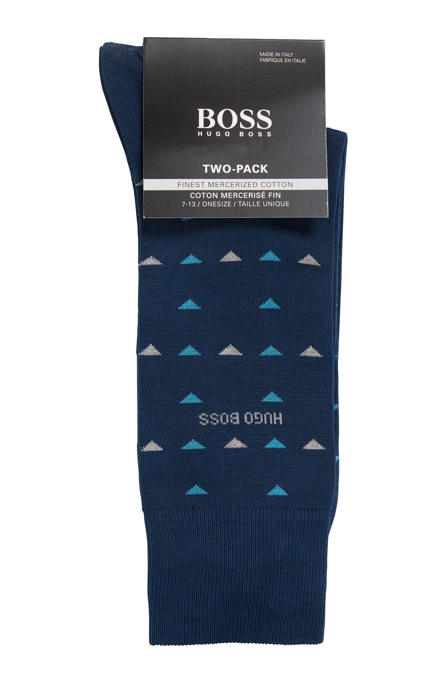 Stretch Cotton Socks, 2 Pack | 2P RS Triangle US MC, Dark Blue