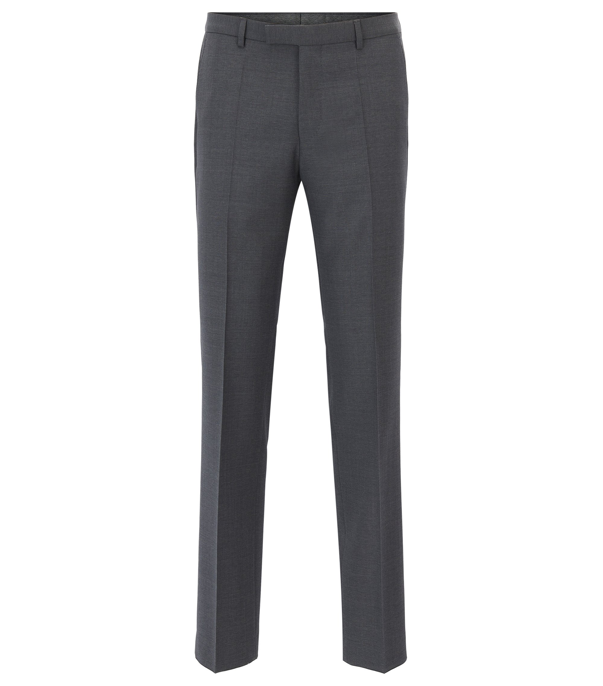 Virgin Wool Pant, Regular Fit | Leenon, Grey