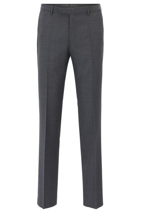 Regular-fit trousers in virgin wool by HUGO Man HUGO BOSS 733scED
