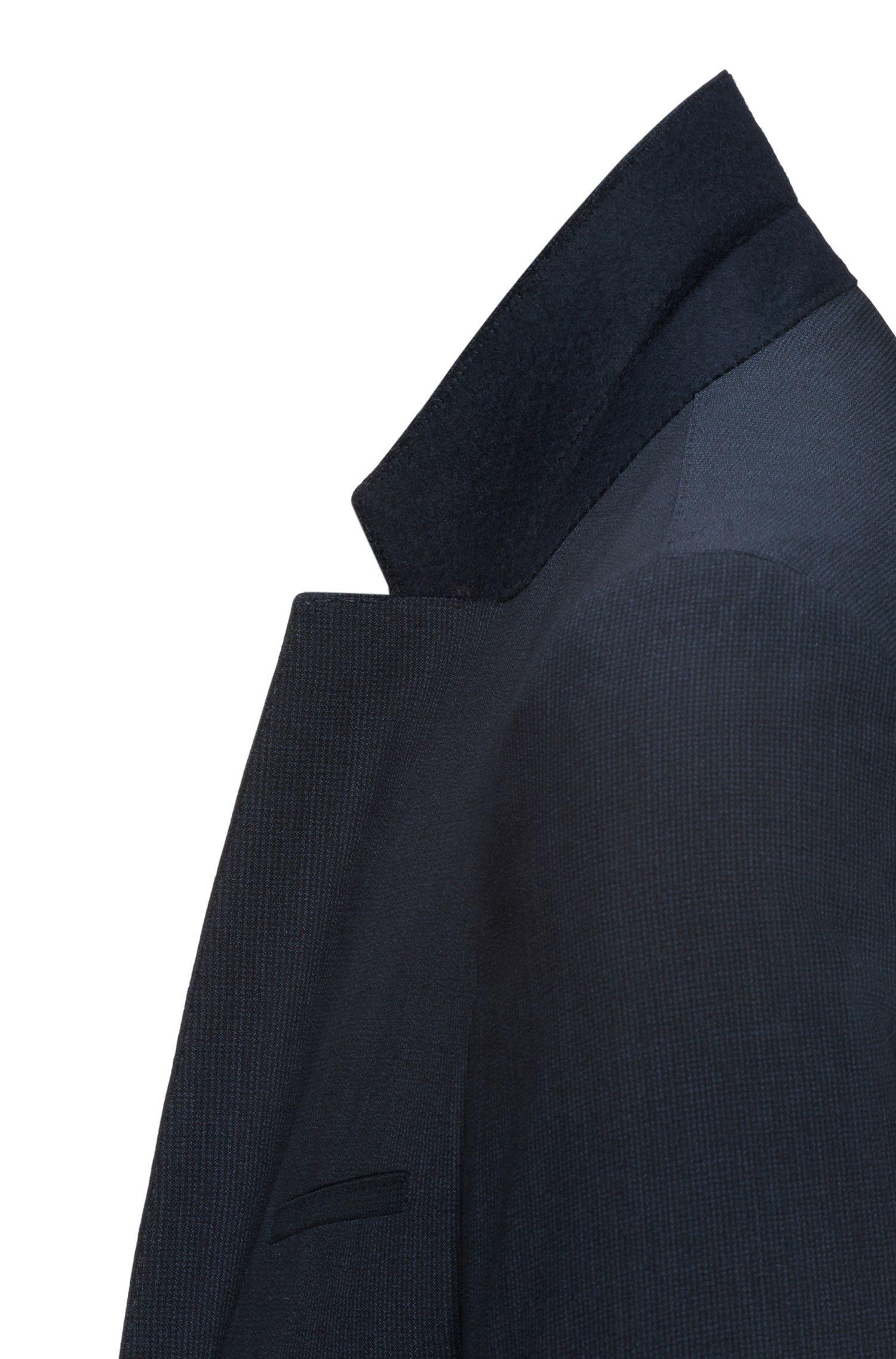 Italian Virgin Wool Suit, Extra-Slim Fit | Arti/Hesten, Dark Blue