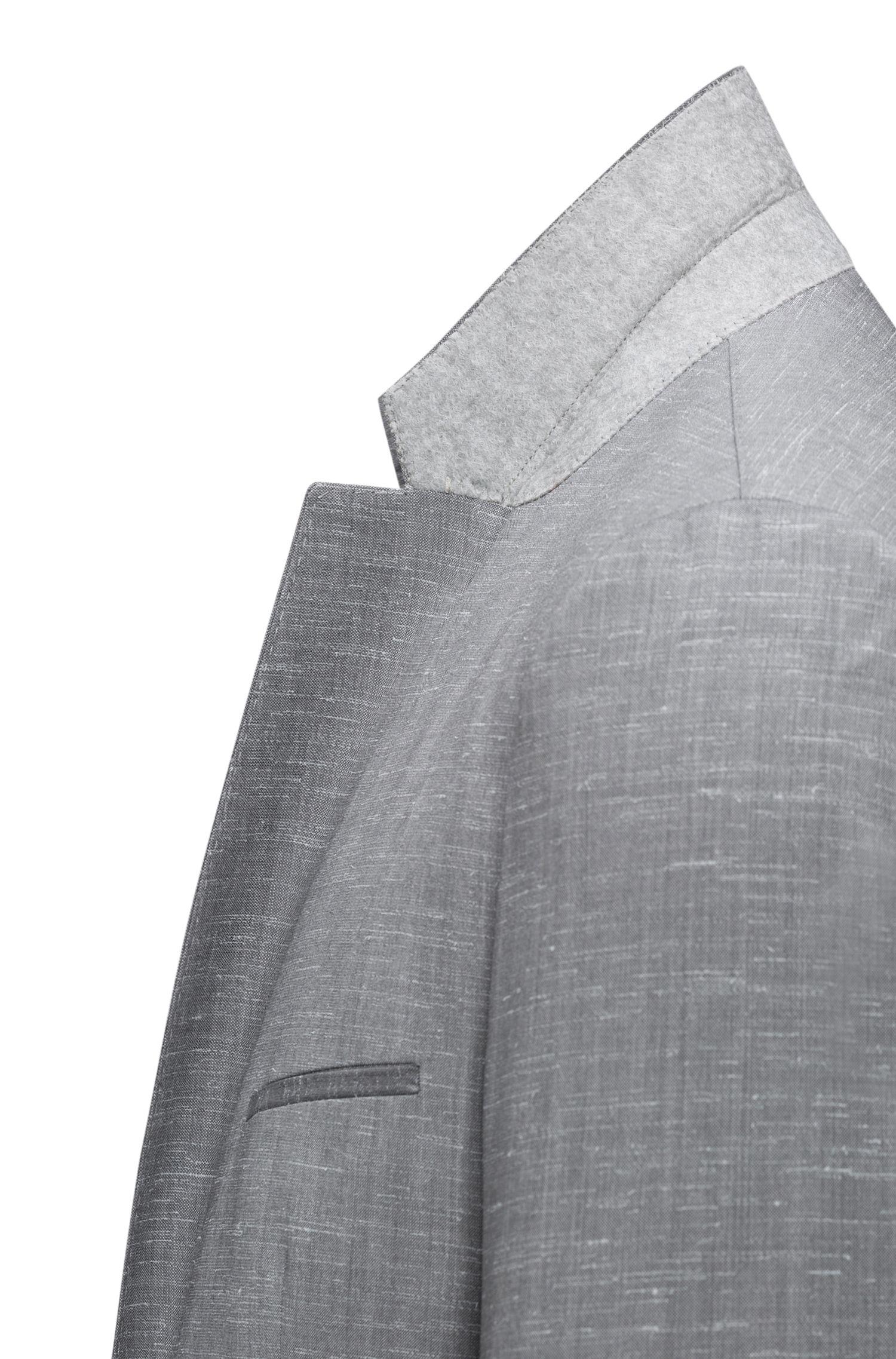 Italian Virgin Wool Suit, Extra-Slim Fit | Arti/Hesten, Open Grey