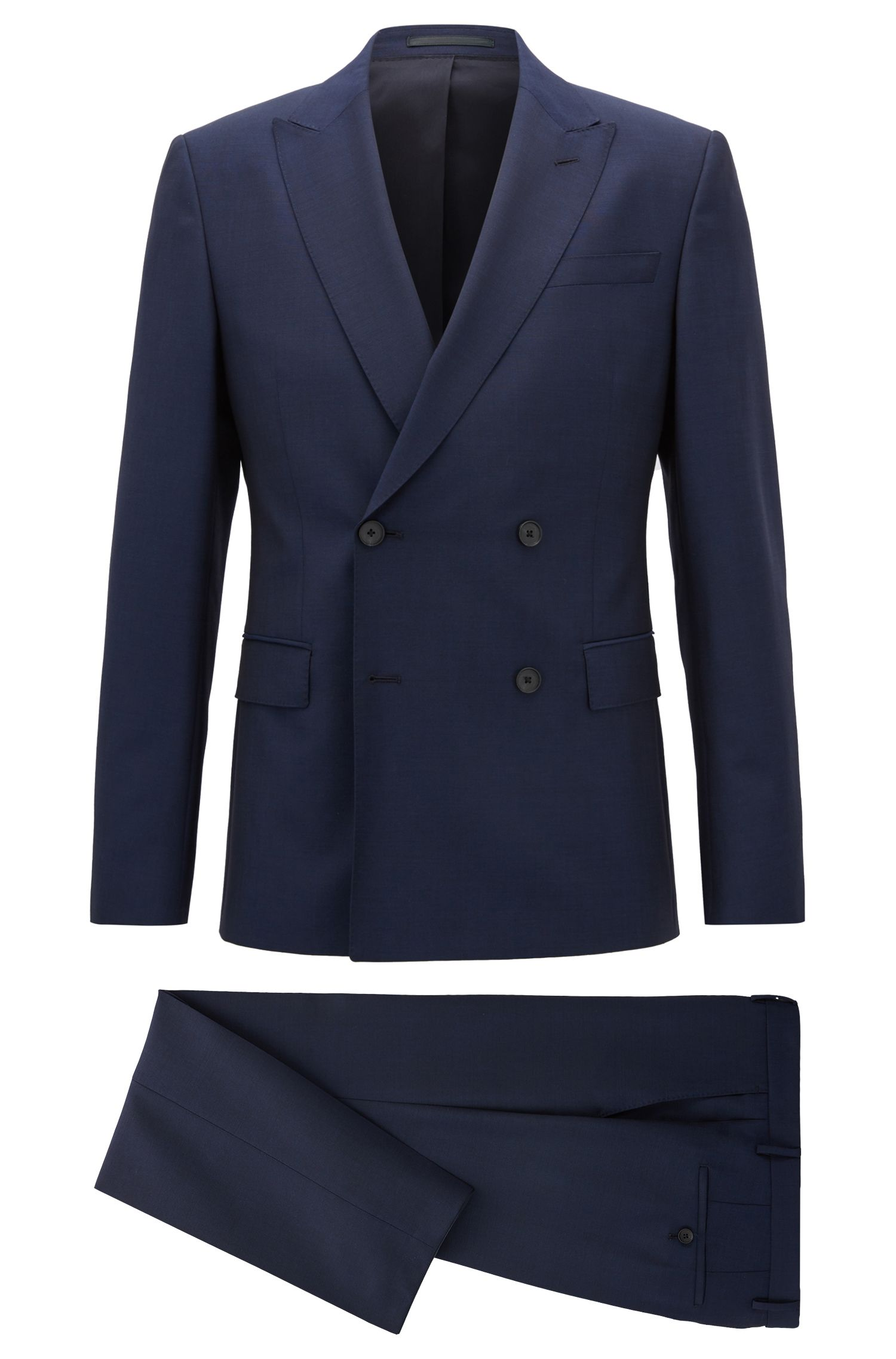 Virgin Wool/Mohair Suit, Slim Fit  | Namil/Ben