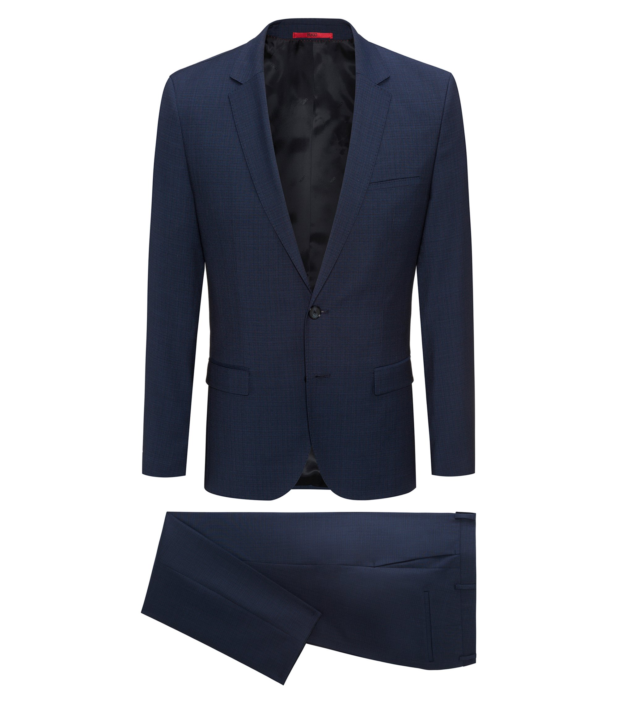Italian Virgin Wool Suit, Extra Slim Fit | Arti/Hesten, Open Blue