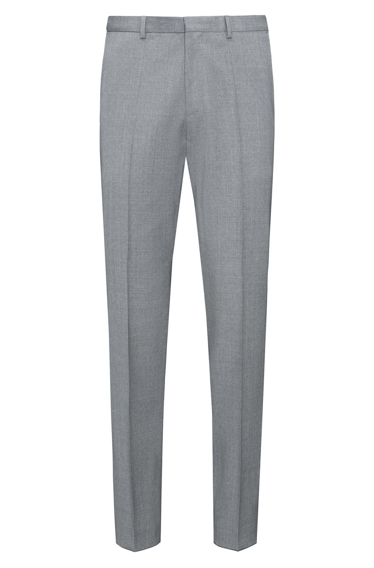 Italian Virgin Wool Suit, Extra Slim Fit | Arti/Hesten, Open Grey