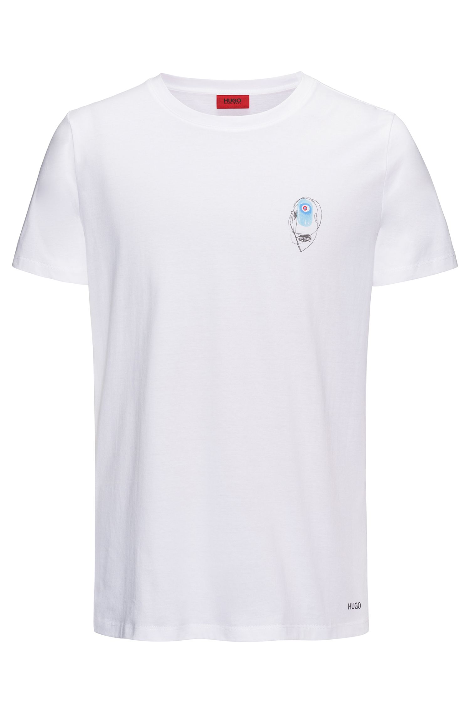 Abstract Cotton Graphic T-Shirt   Dirit , White