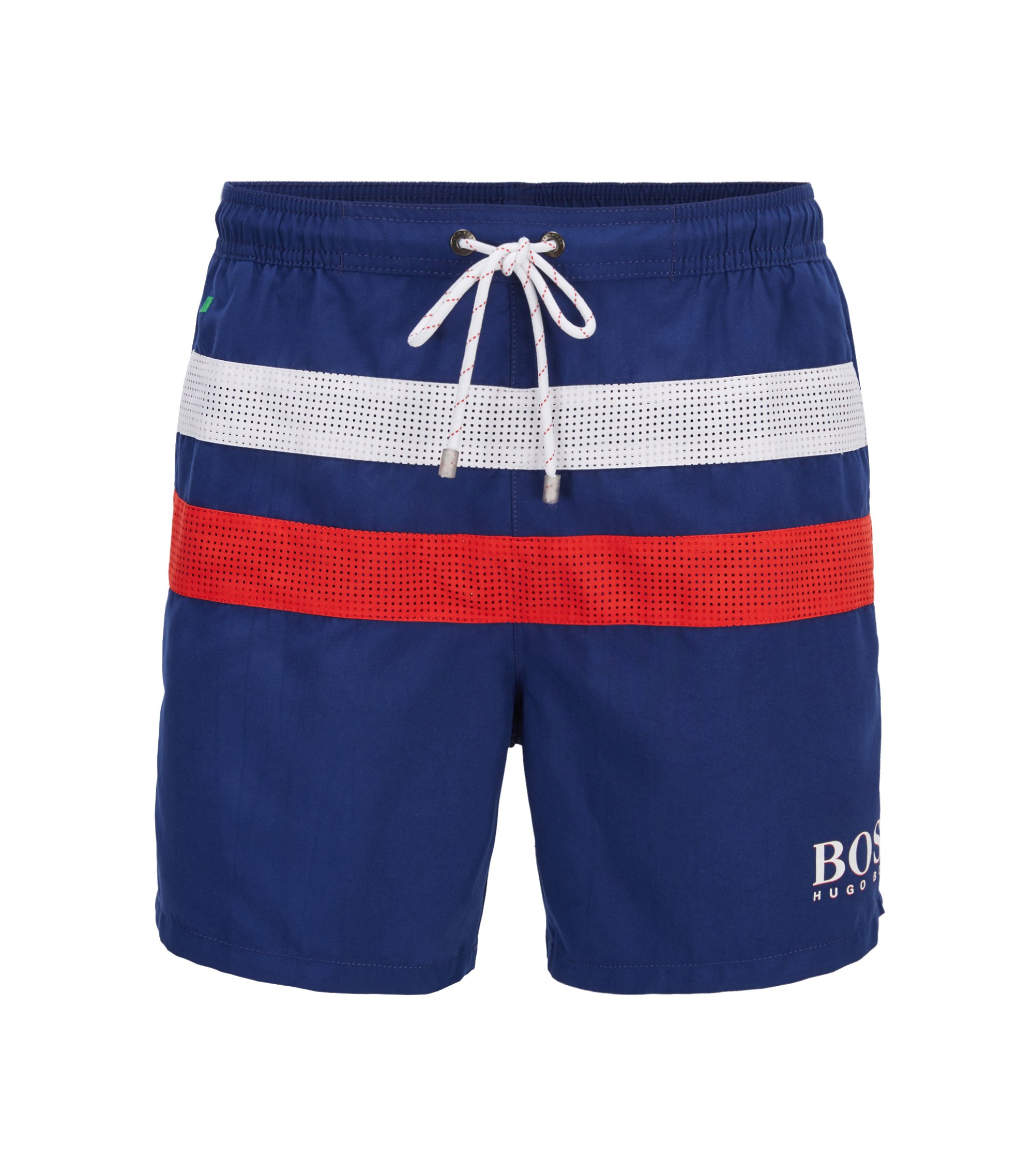 Flag Quick Dry Swim Trunk | Footballfish, Dark Blue