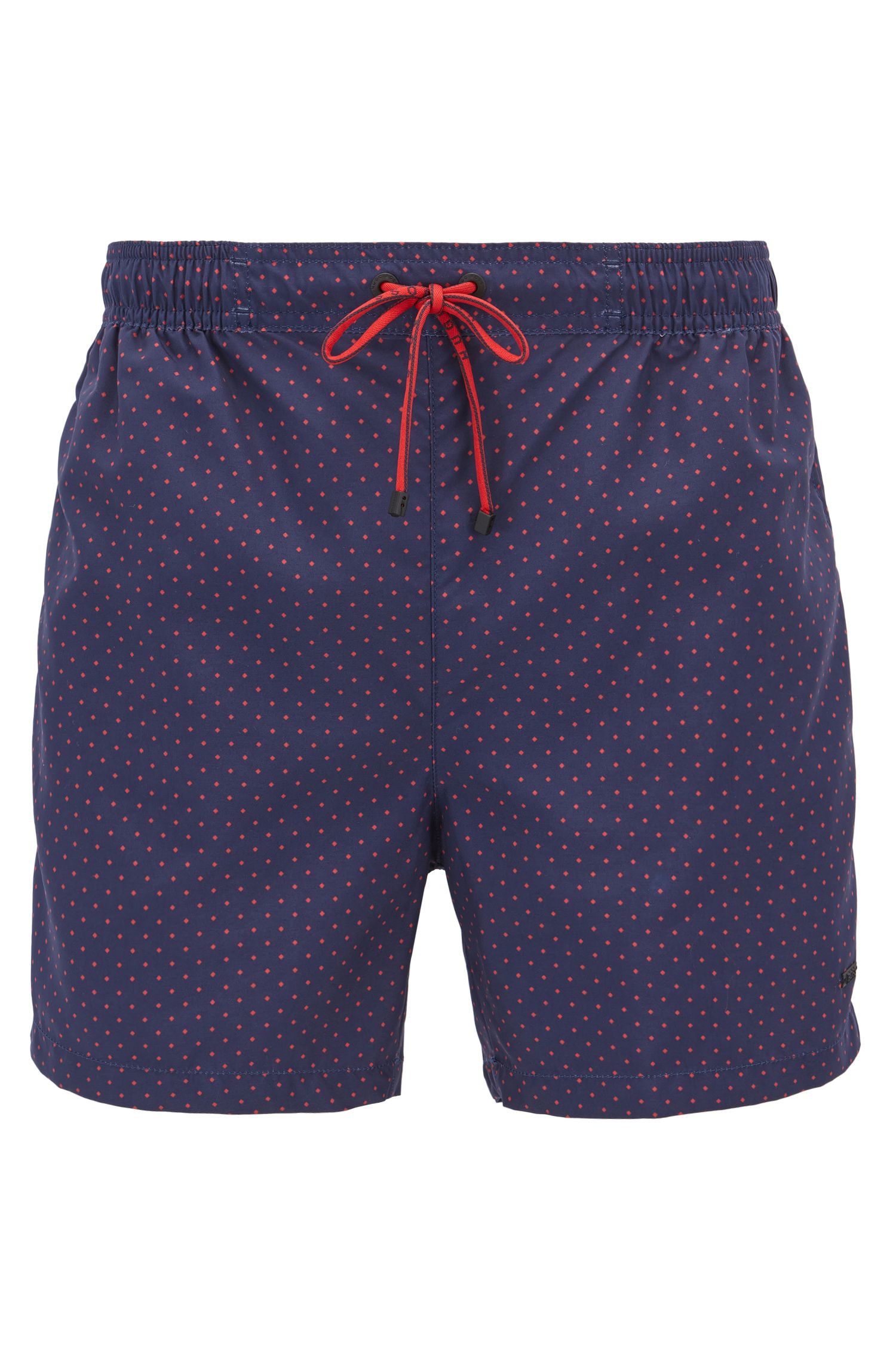 Square-Print Quick Dry Swim Trunk | Boxfish