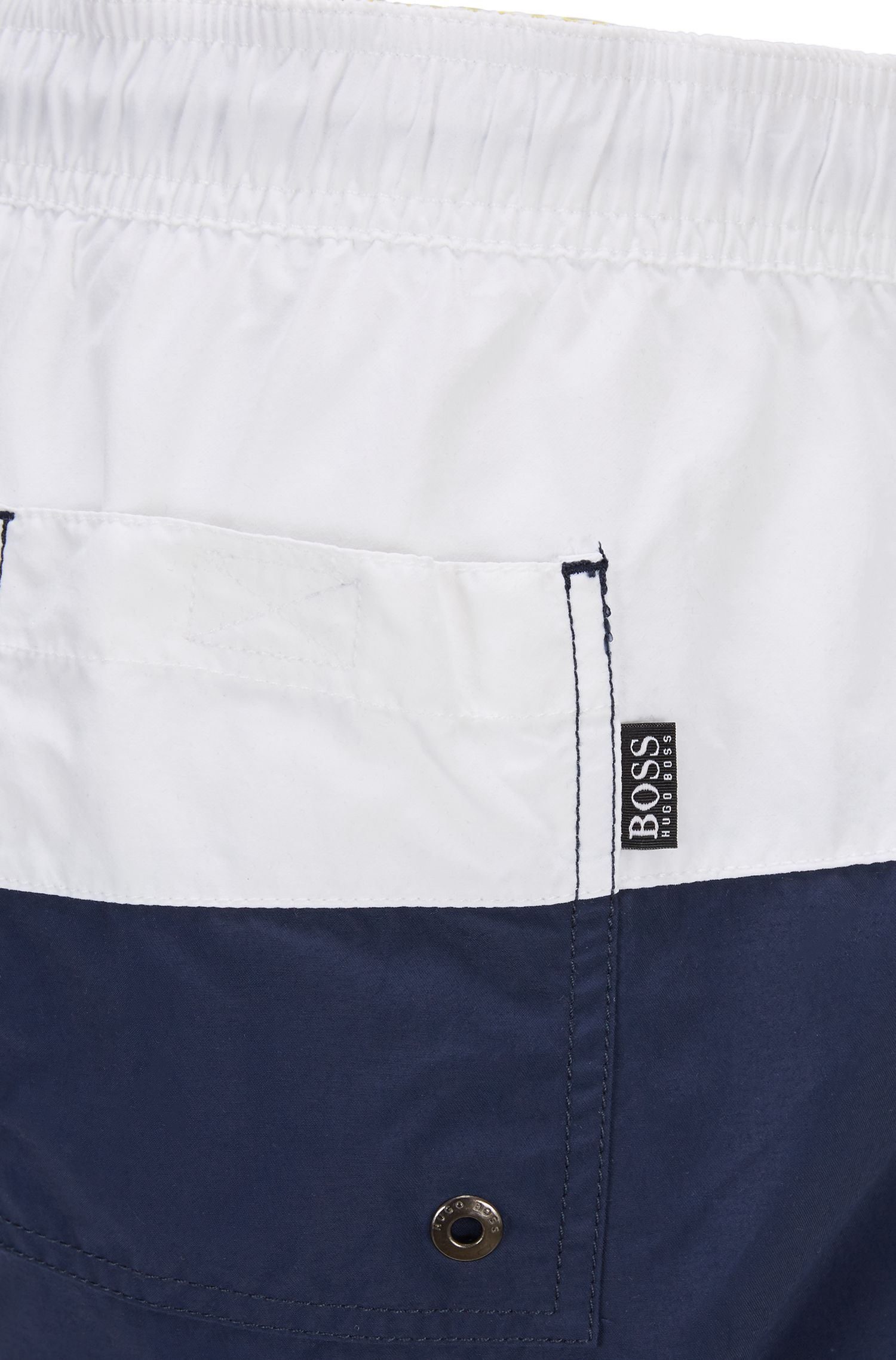 Striped Quick Dry Swim Trunk | Flounder , Open Blue