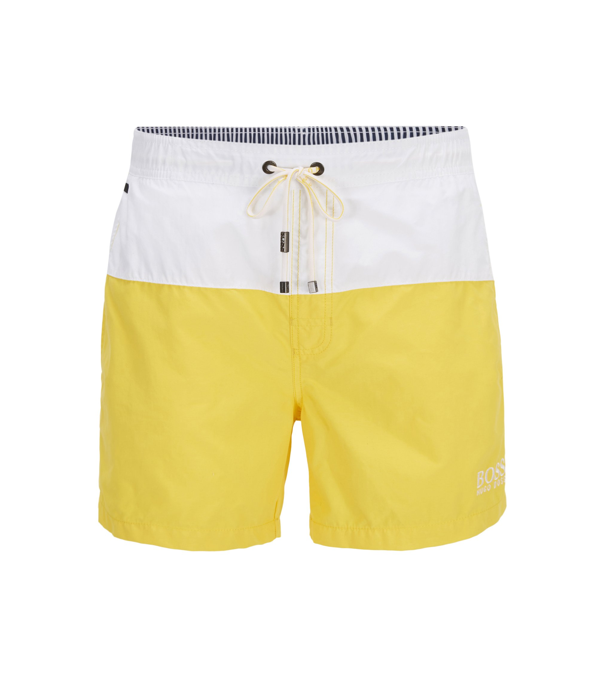 Striped Quick Dry Swim Trunk | Flounder , Open Yellow