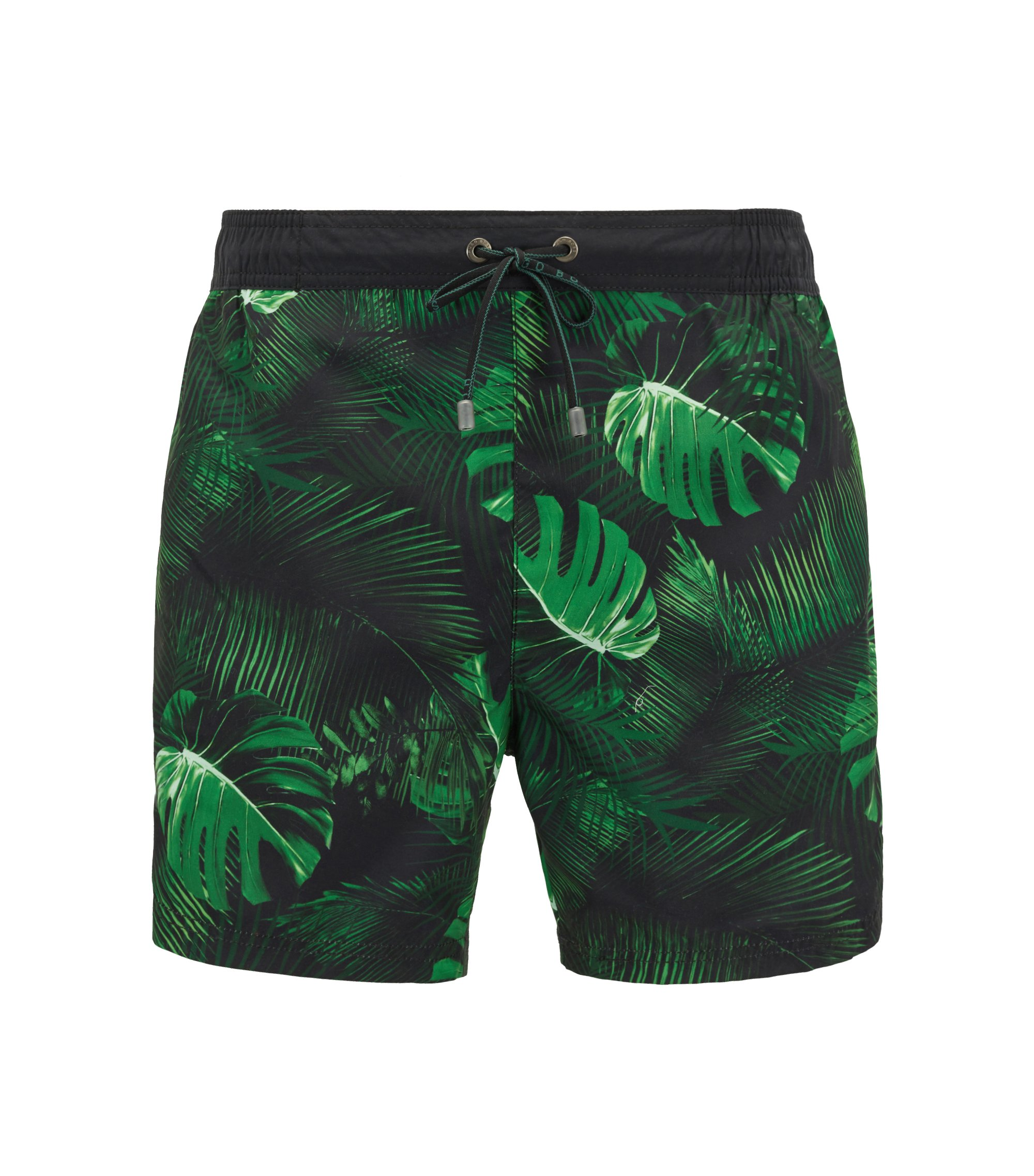 Botanical Print Swim Trunk | Mandarinfish, Open Green
