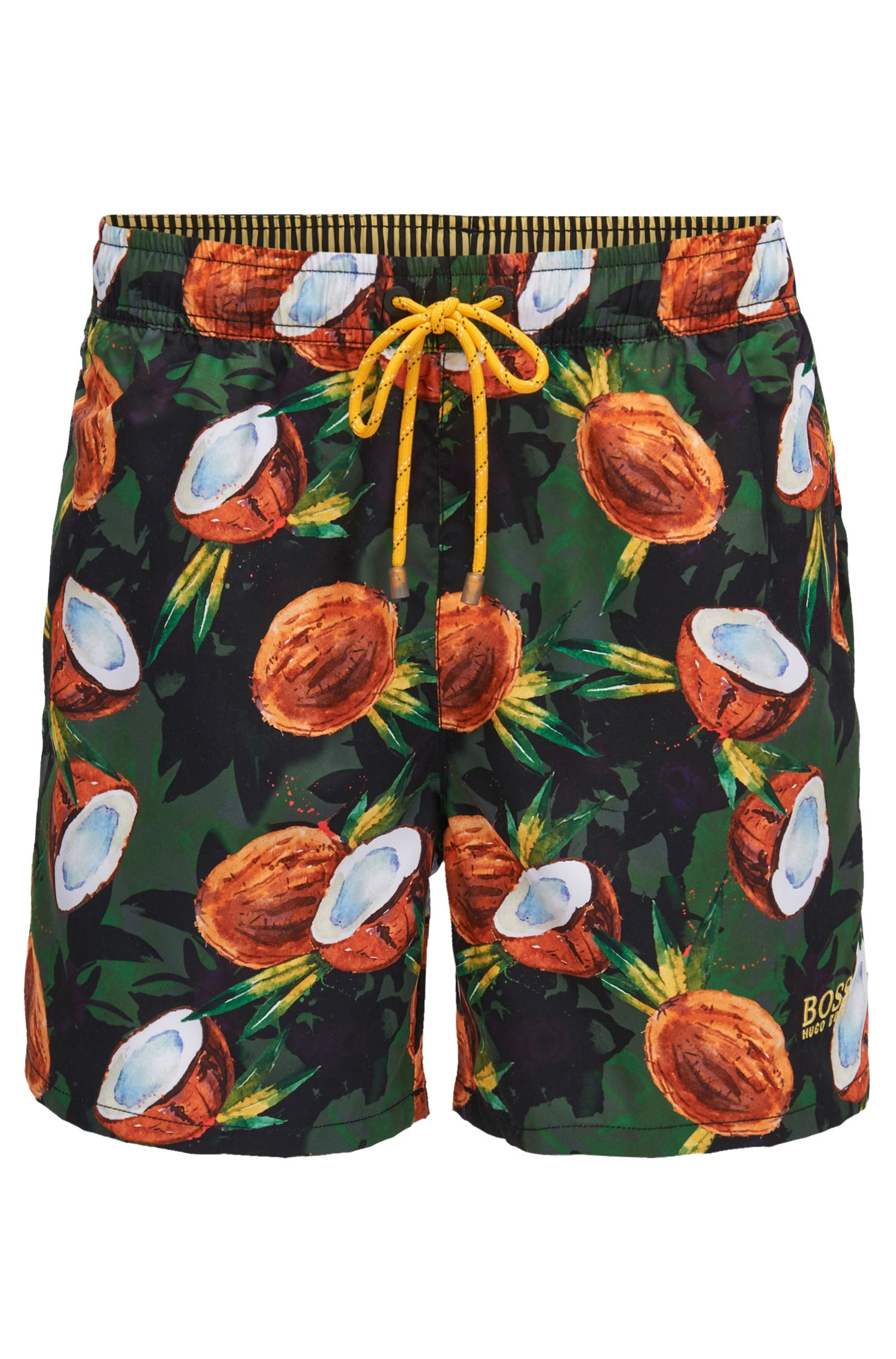 Fruit Print Swim Trunk | Threadfin, Open Green