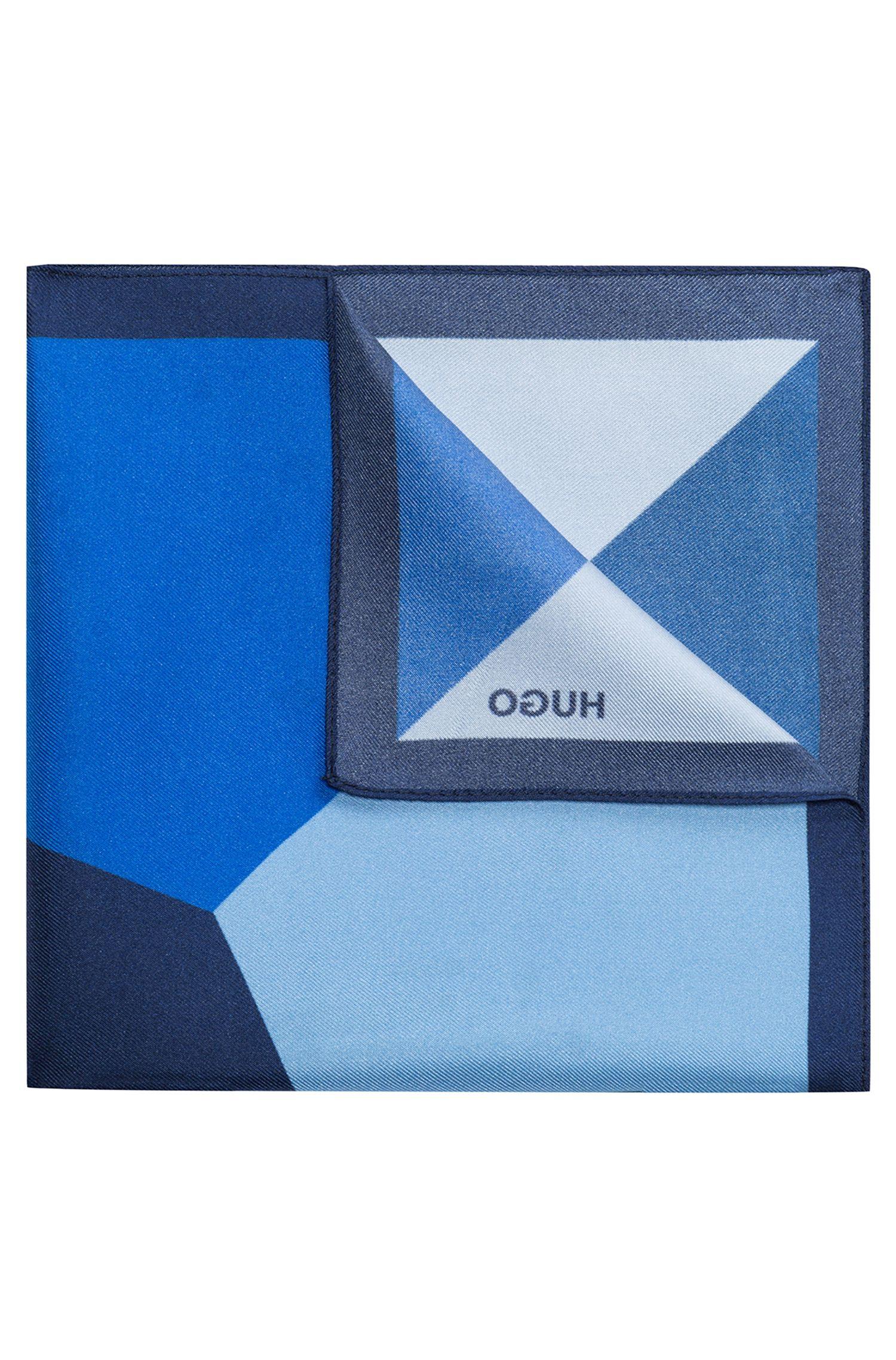 Colorblocked Italian Silk Pocket Square