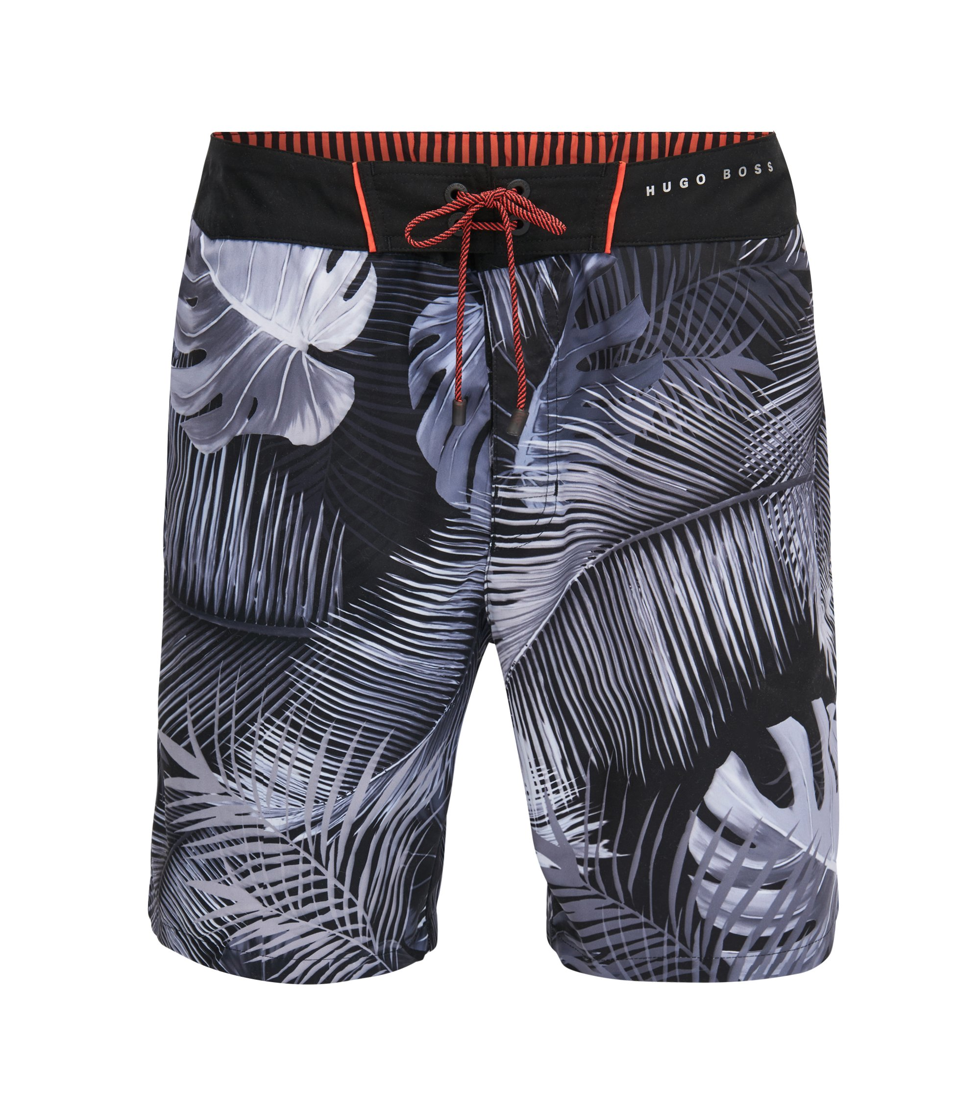 Tropical Quick Dry Swim Trunk | Piranha, Open Grey