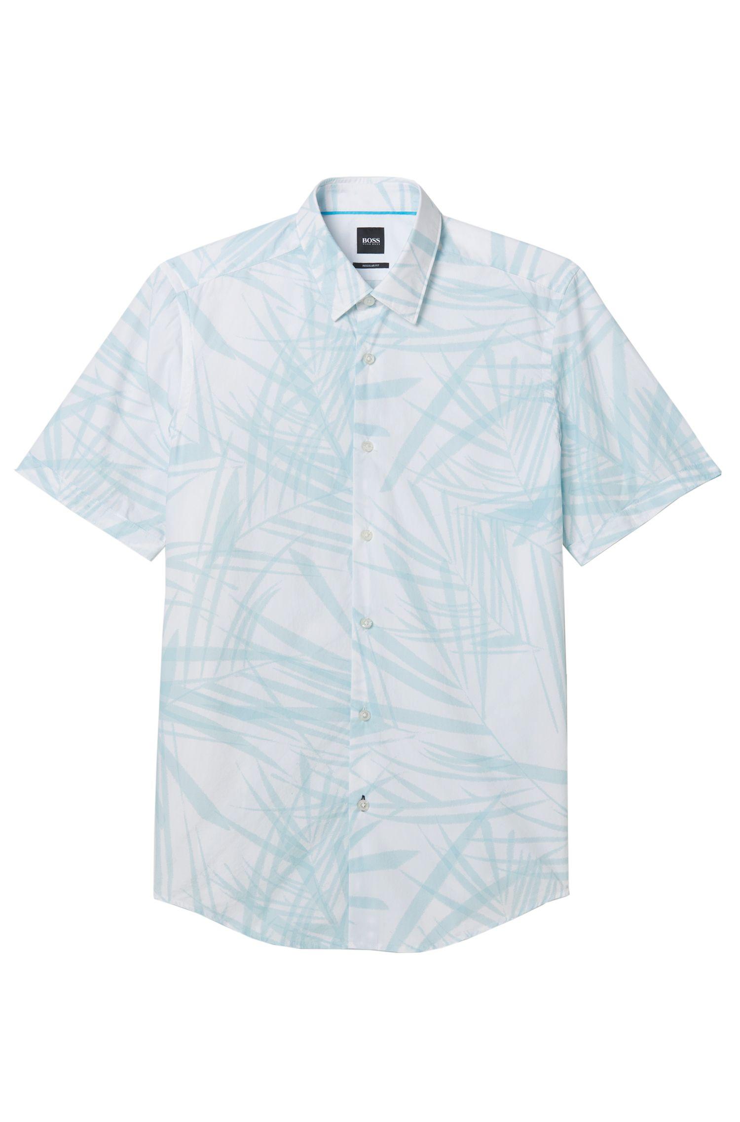 Palm Print Cotton Shirt, Regular-Fit  | Luka