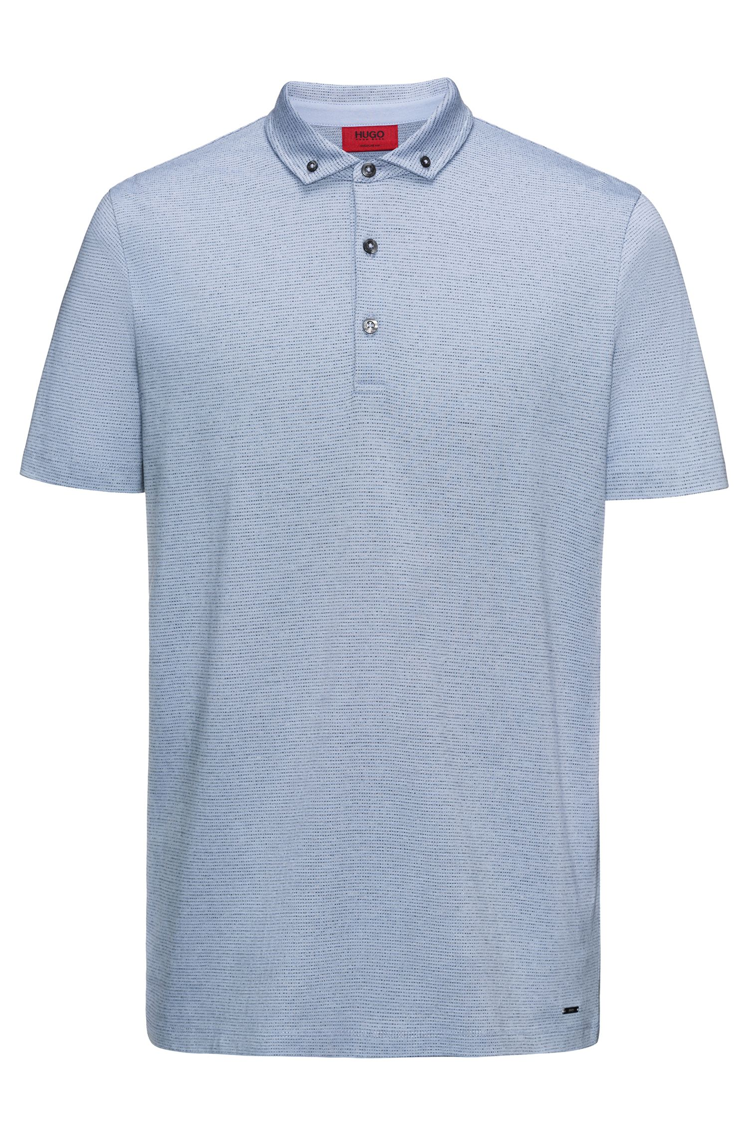 Cotton Blend Polo Shirt, Regular Fit | Deleton