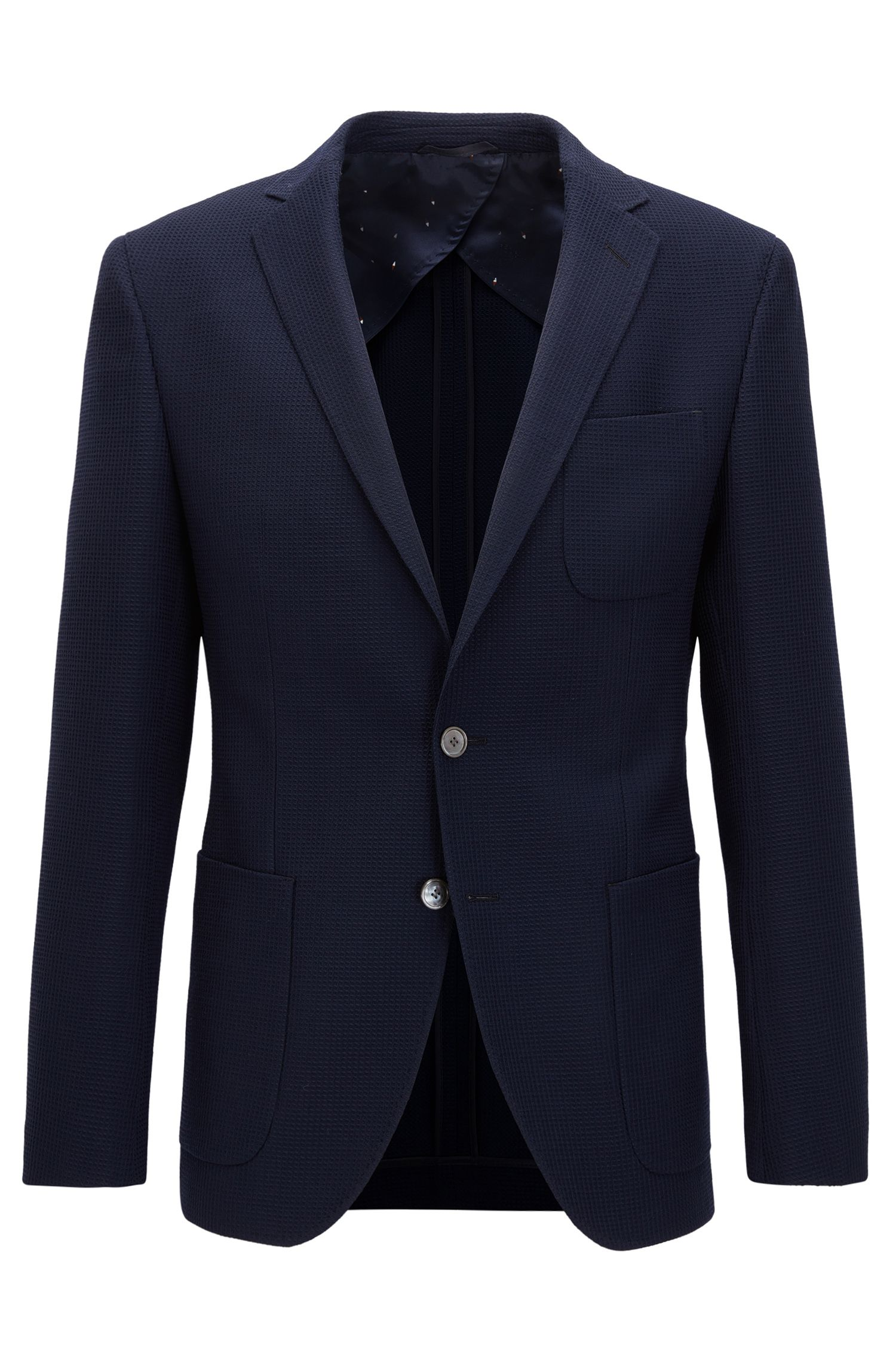 Textured Wool Sport Coat, Extra Slim Fit | Raye, Dark Blue