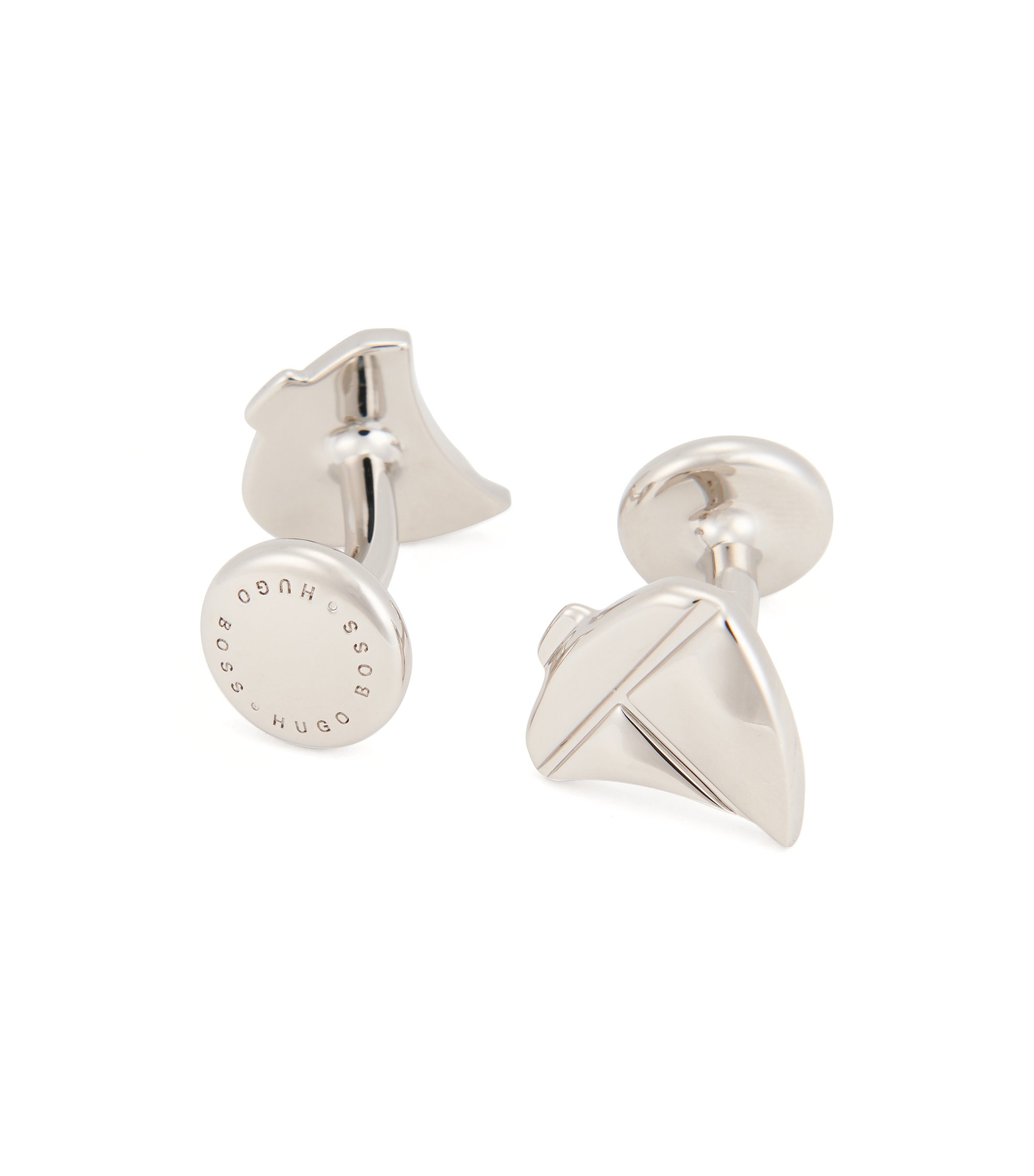 Sailboat Brass Cufflinks | Tack, Silver