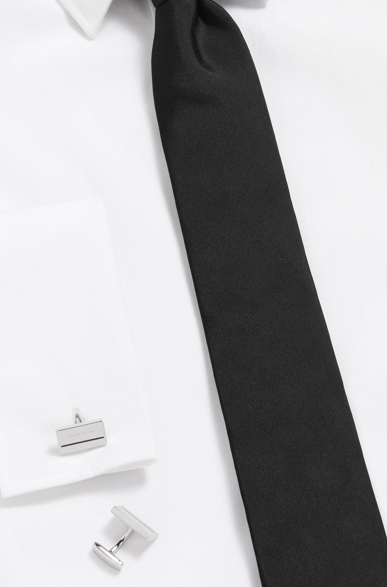 Enamel & Brass Cufflinks | Cam, Black