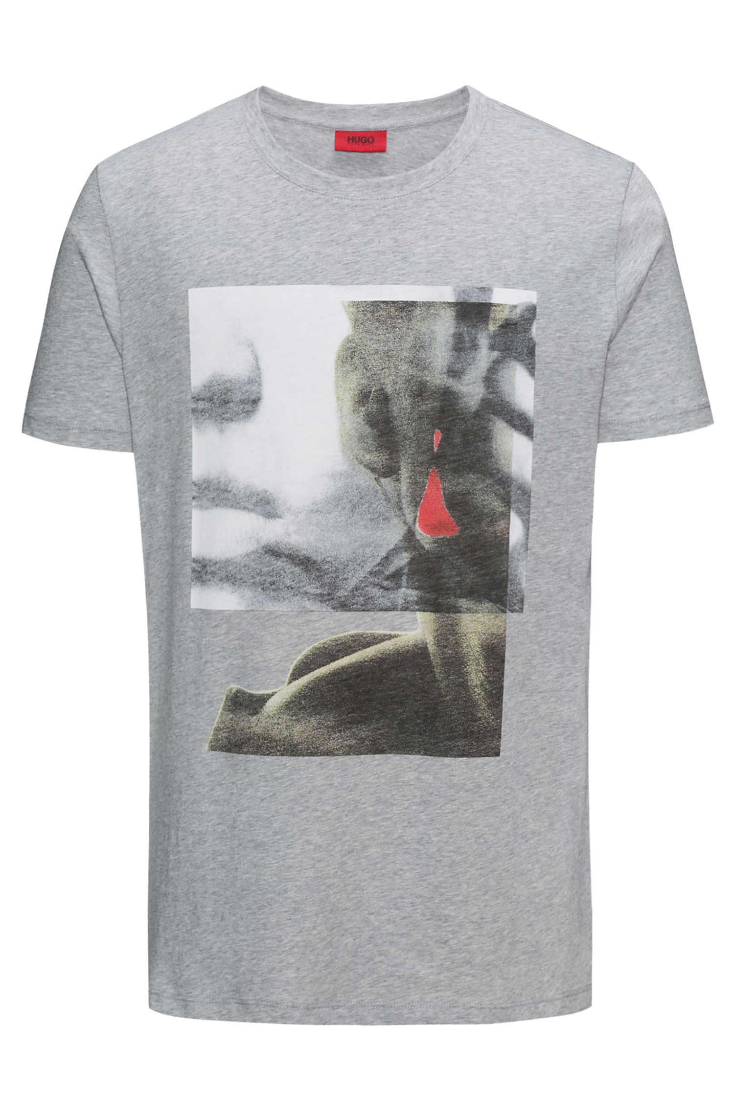 Cotton Graphic T-Shirt | Diew, Open Grey