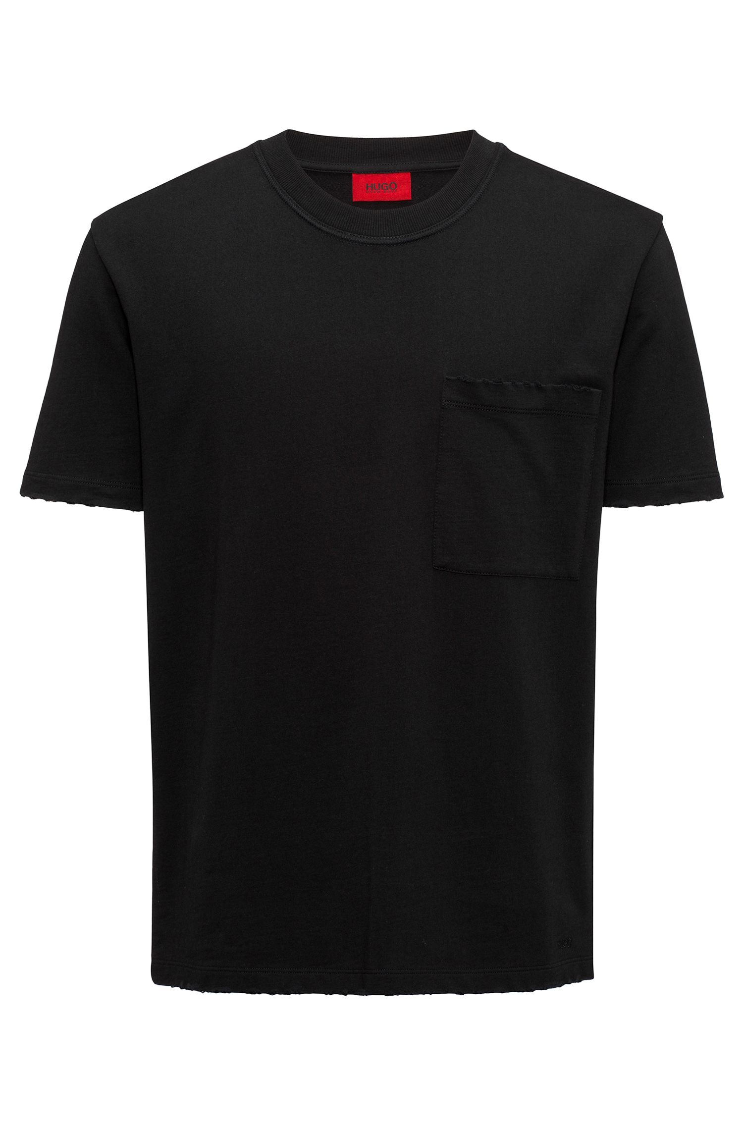 Destroyed Cotton T-Shirt | Drizz