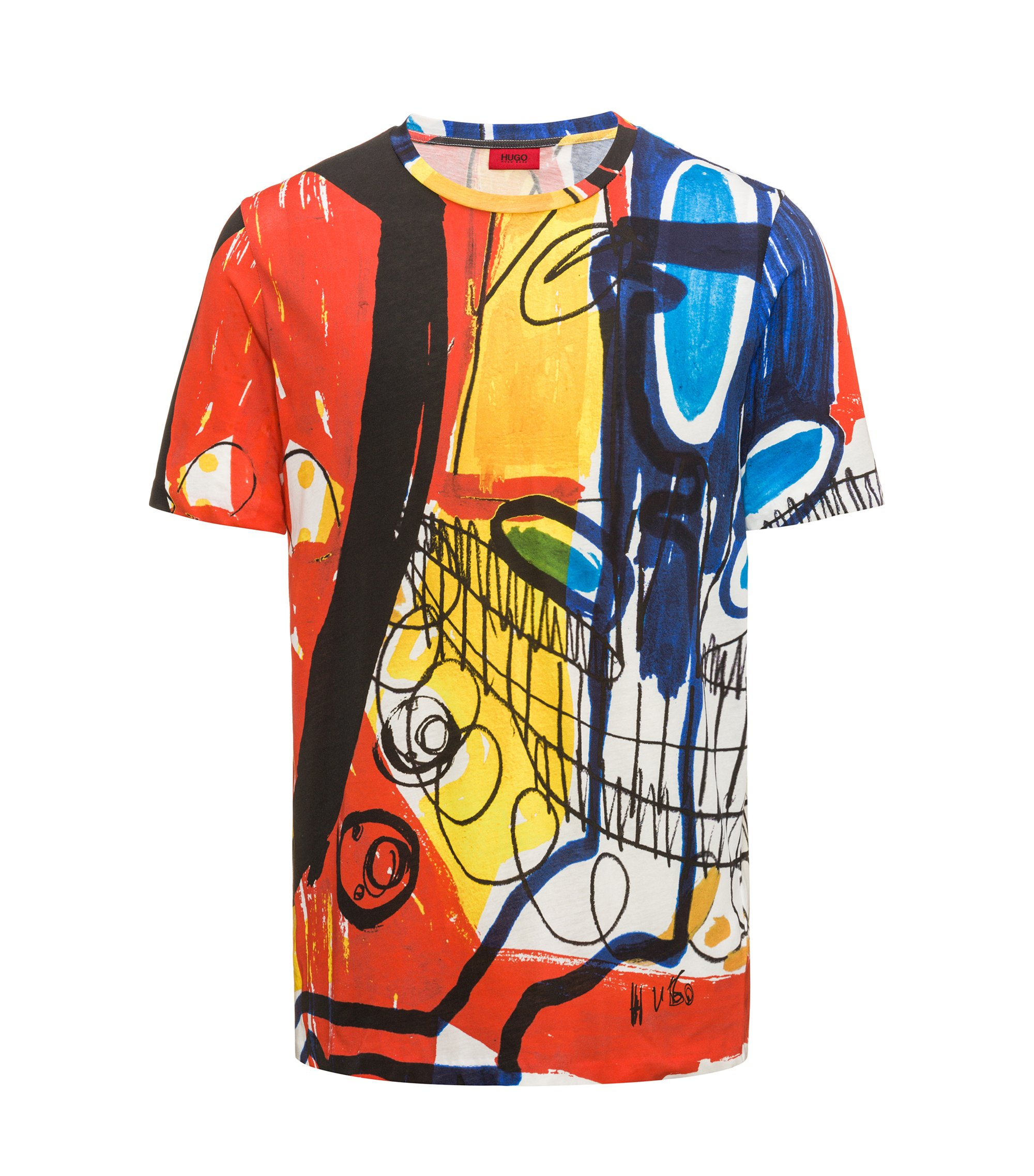 Abstract Cotton T-Shirt | Dolorful, Patterned