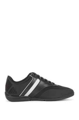 BOSS Hugo Boss Material-mix sneakers rubber sole 10 Black Choice 4Qlhk