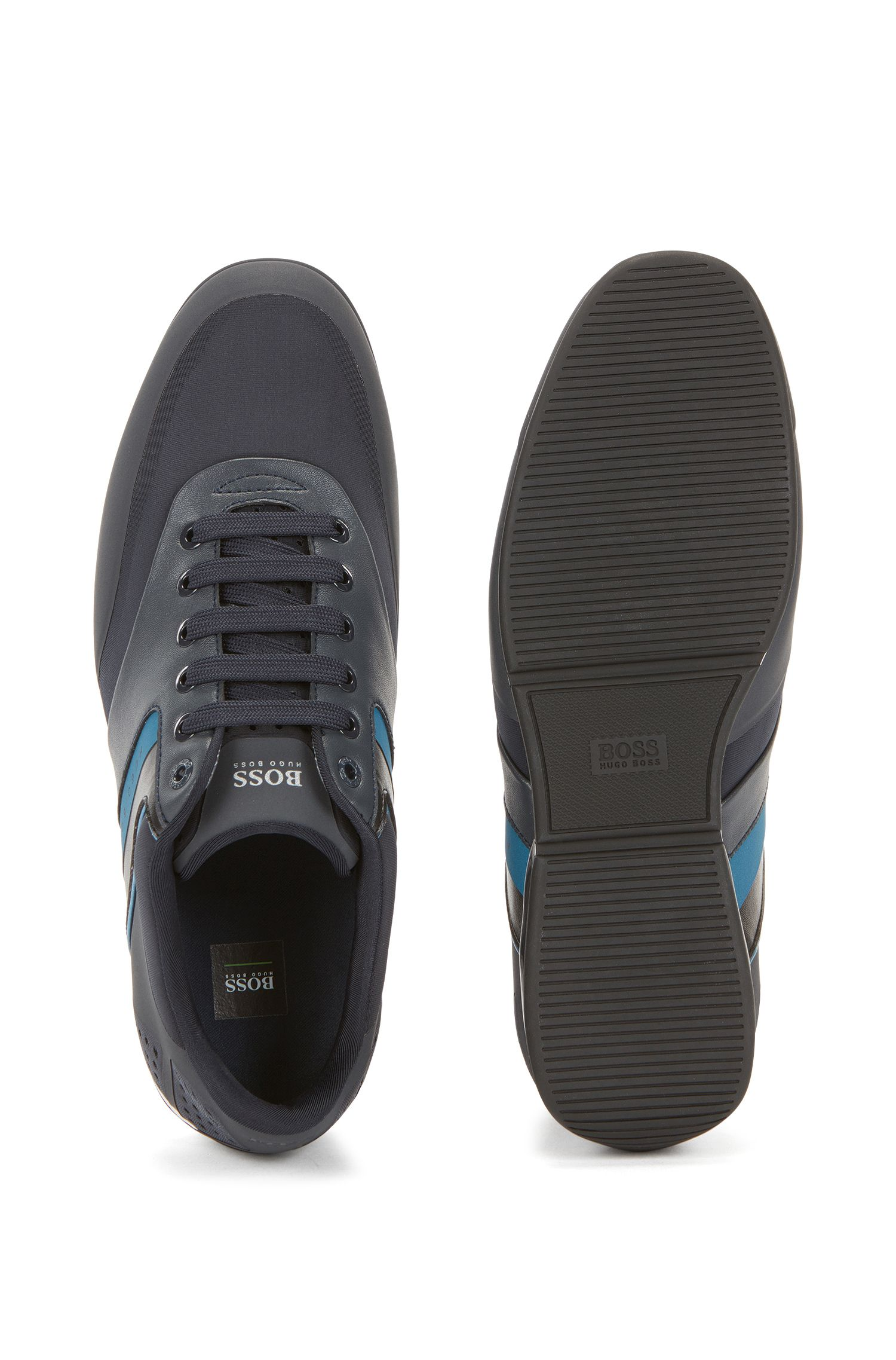 Leather Sneaker | Saturn Lowp Neo, Dark Blue