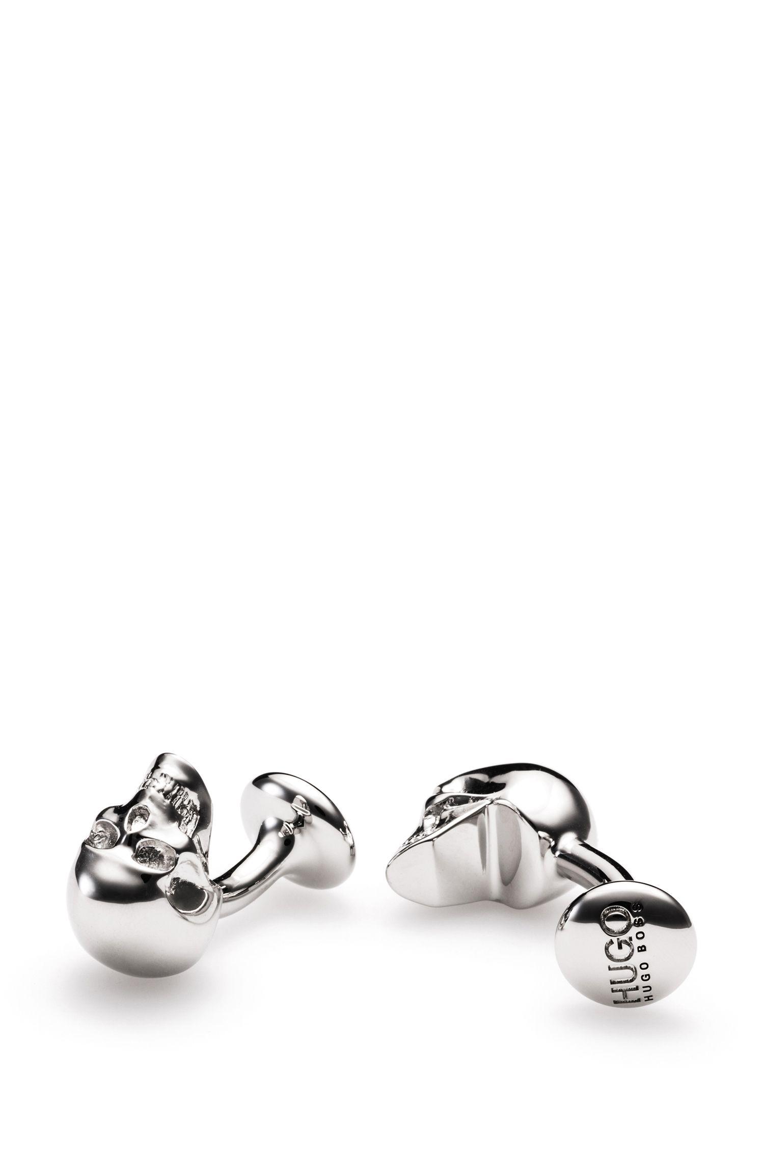 Skull Brass Cufflinks | E-Skull