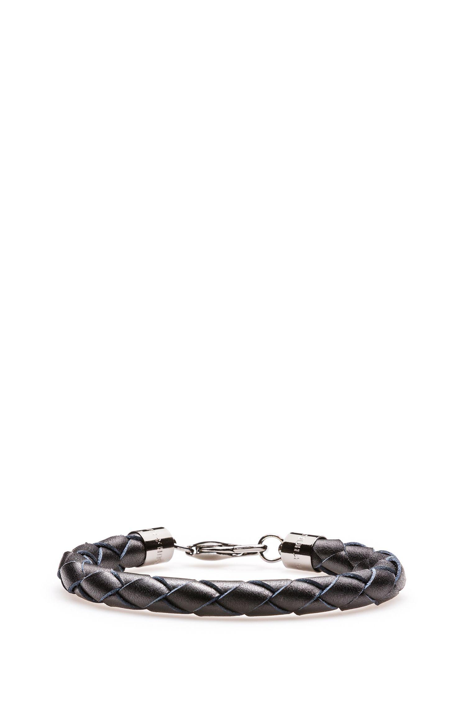 Woven Leather Bracelet | E-Cuir, Black