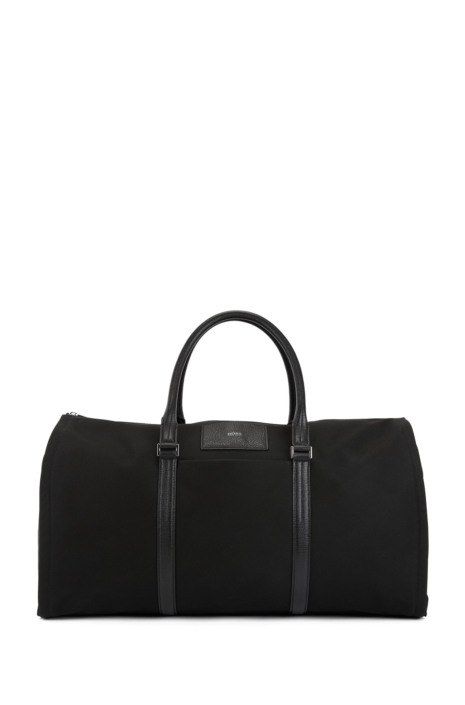 Leather-Trim Nylon Carryall Bag | Meridian Holdall