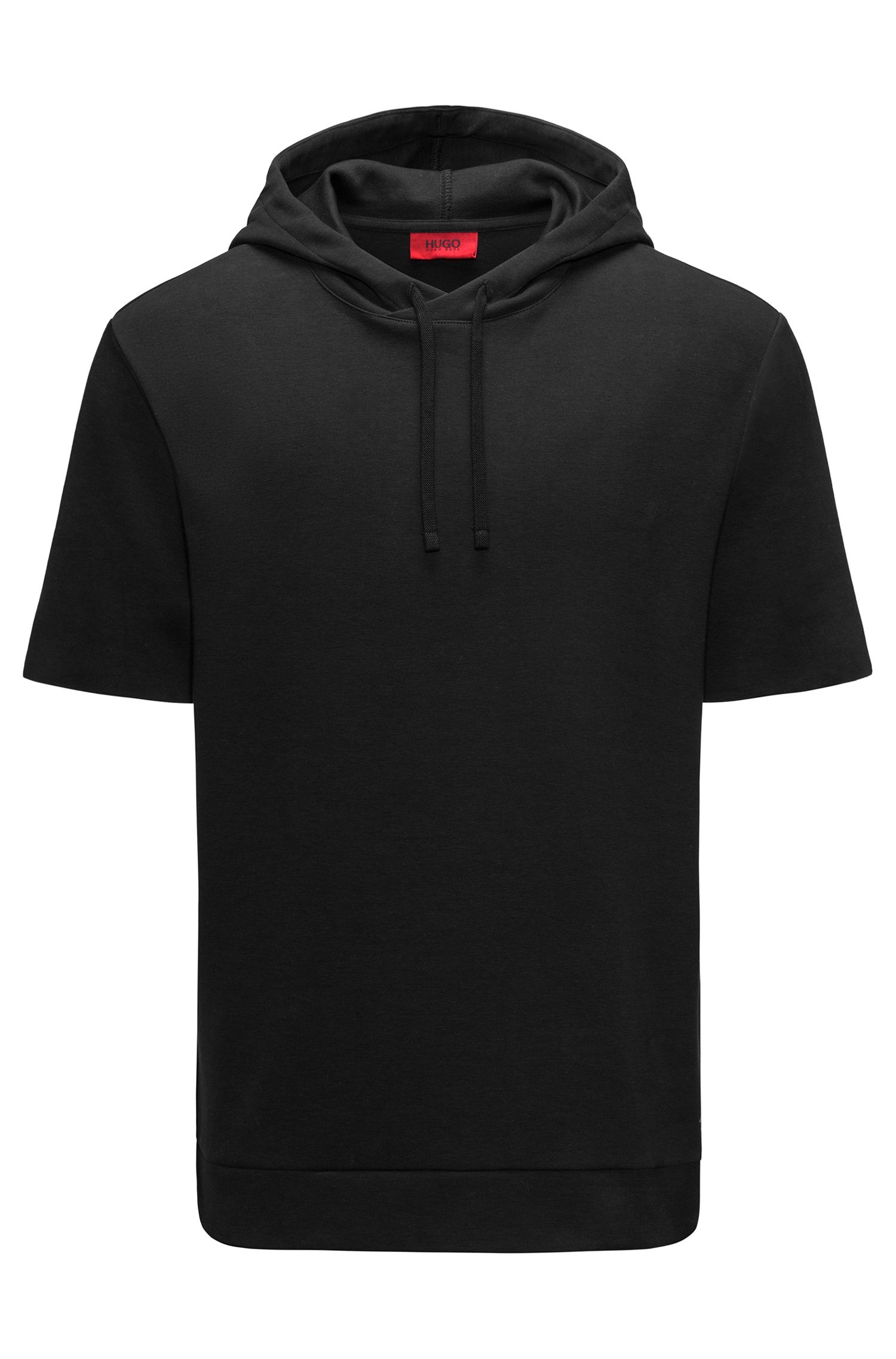 Cotton Blend Short-Sleeve Hoodie | Drib