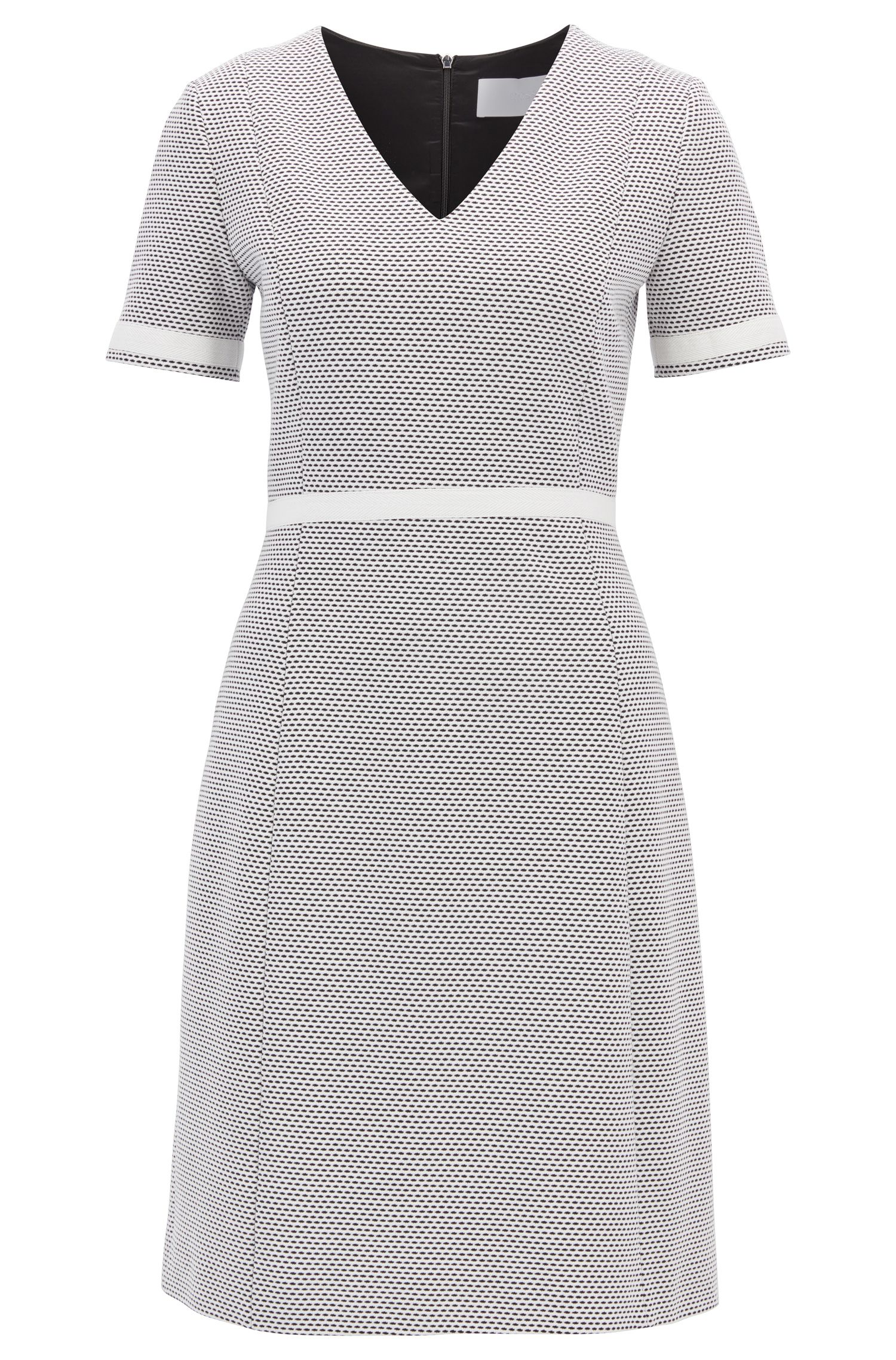 V-Neck Dress | Higaniu, Patterned