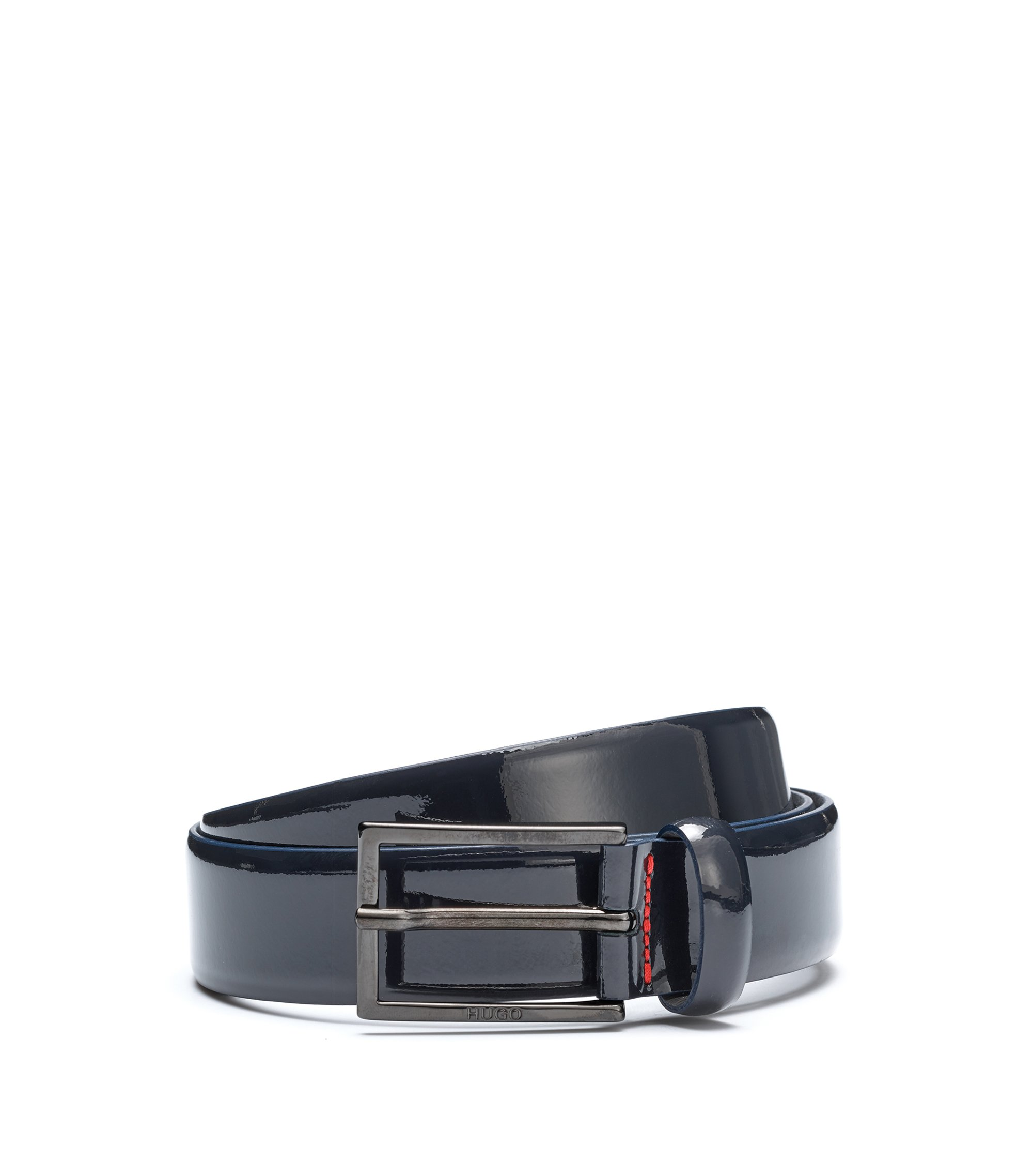 Patent Leather Belt | Gavino, Dark Blue