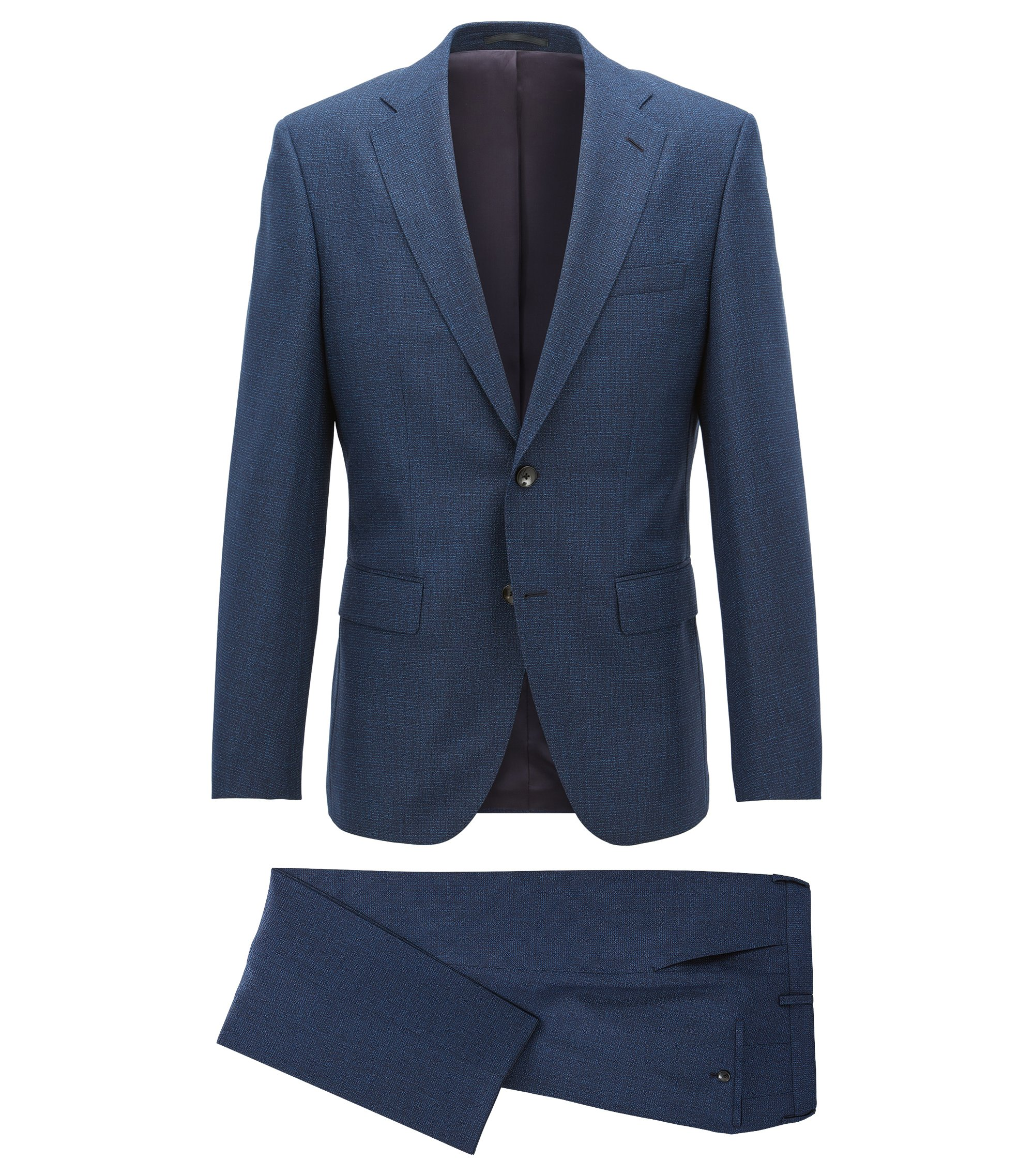 Virgin Wool Suit, Regular Fit | Johnstons/Lenon, Dark Blue
