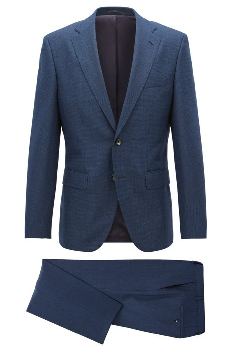 37e7a20c3 BOSS - Virgin Wool Suit, Regular Fit | Johnstons/Lenon