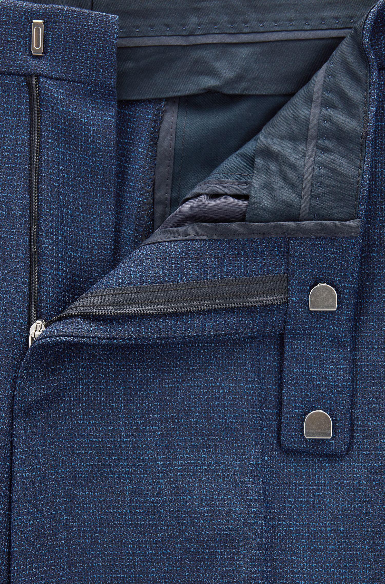 Virgin Wool Suit, Regular Fit | Johnstons/Lenon, Dark Blue