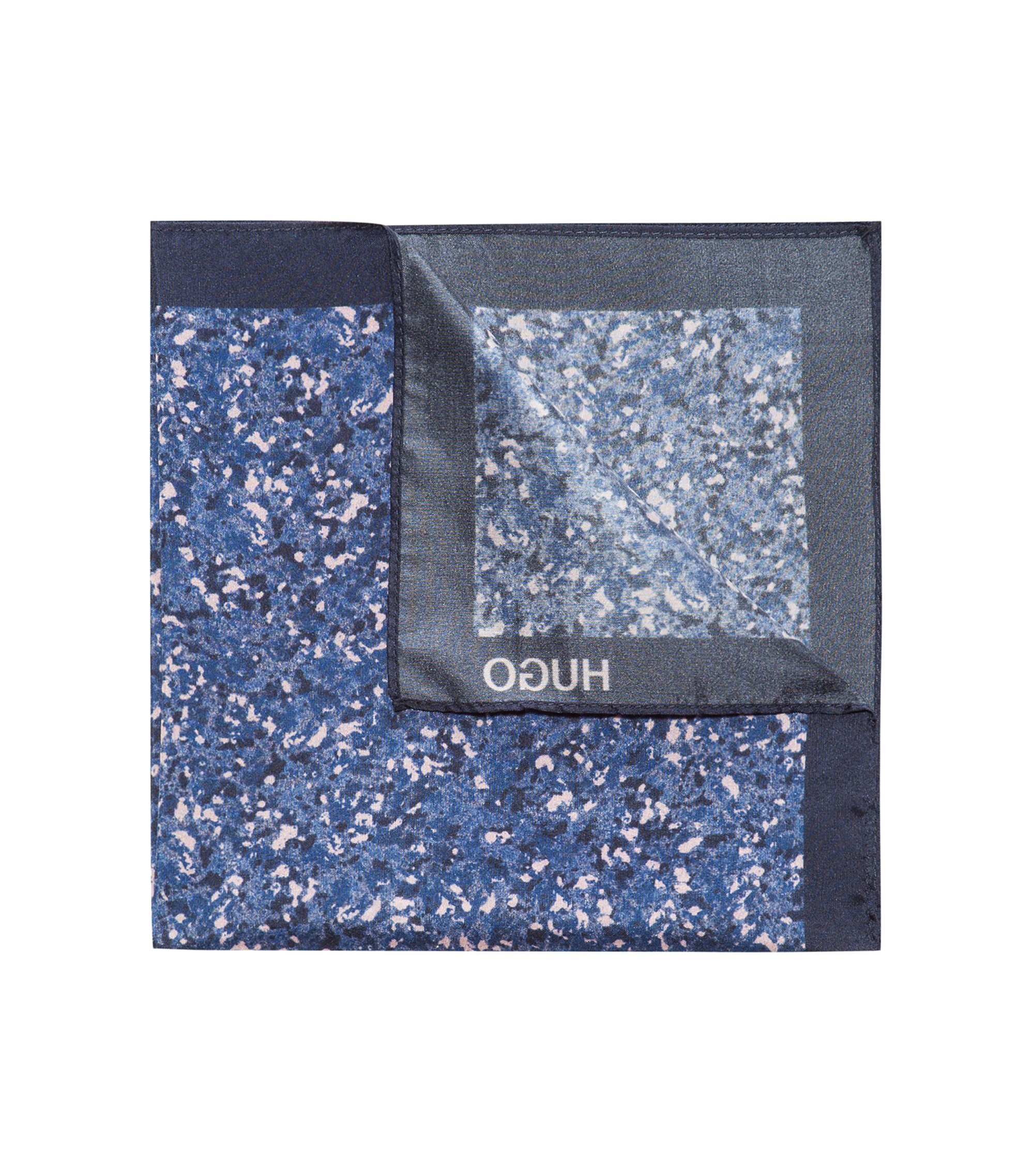 Marble-Patterned Italian Silk Pocket Square, light pink