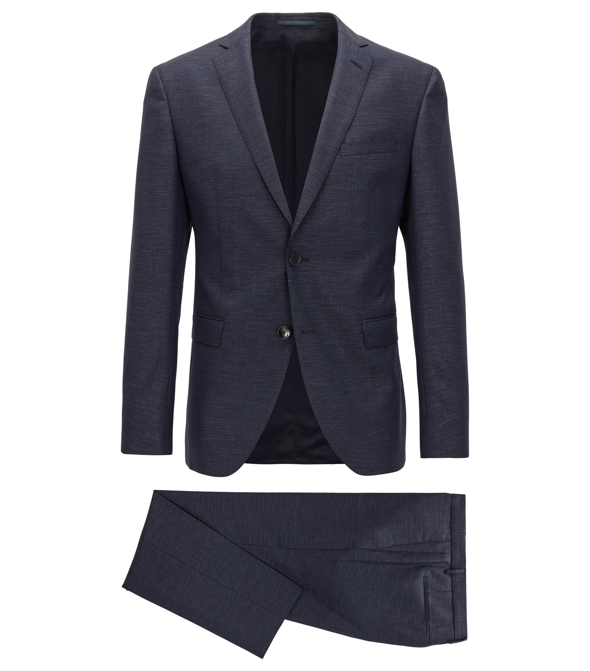 Wool Blend Suit, Extra Slim Fit | Reyno/Wave, Dark Blue