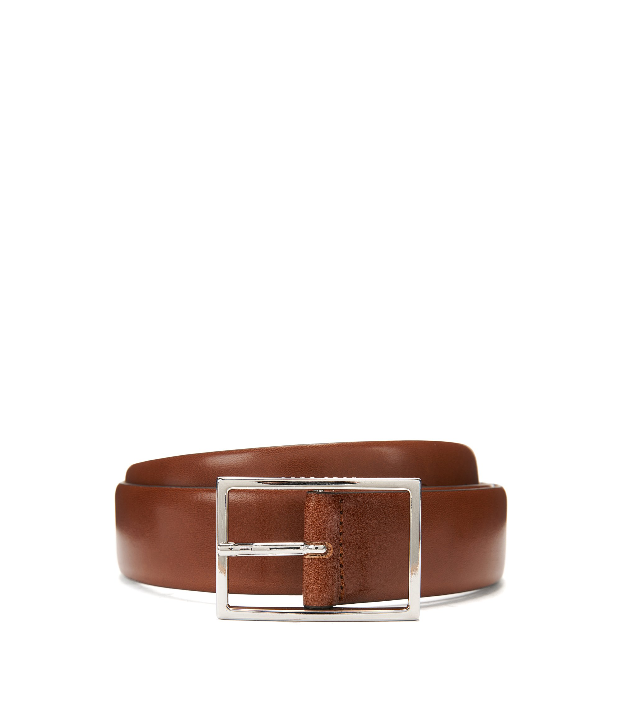 Leather Belt | Carmine, Brown