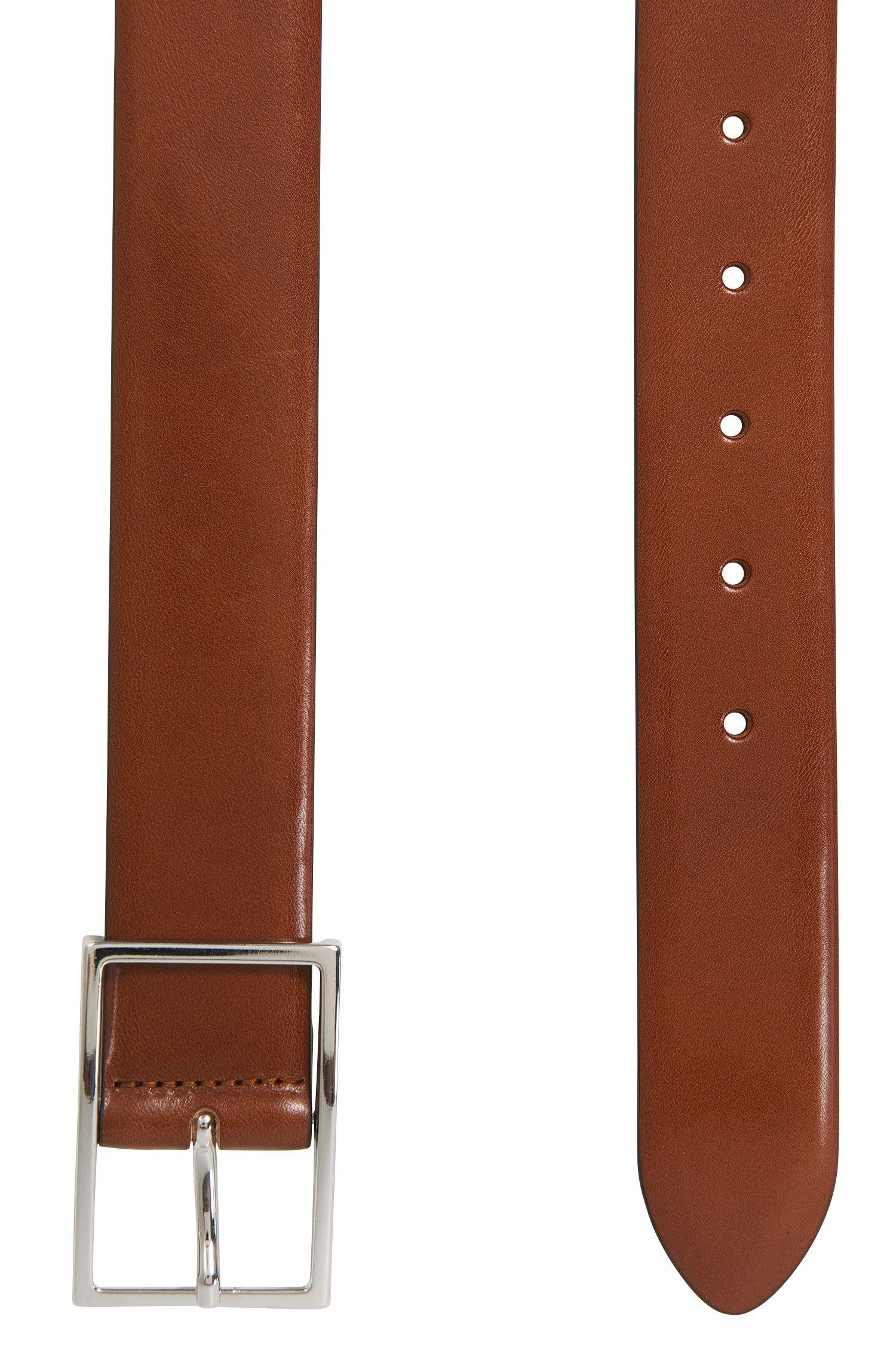 Leather Belt | Carmine, Brown