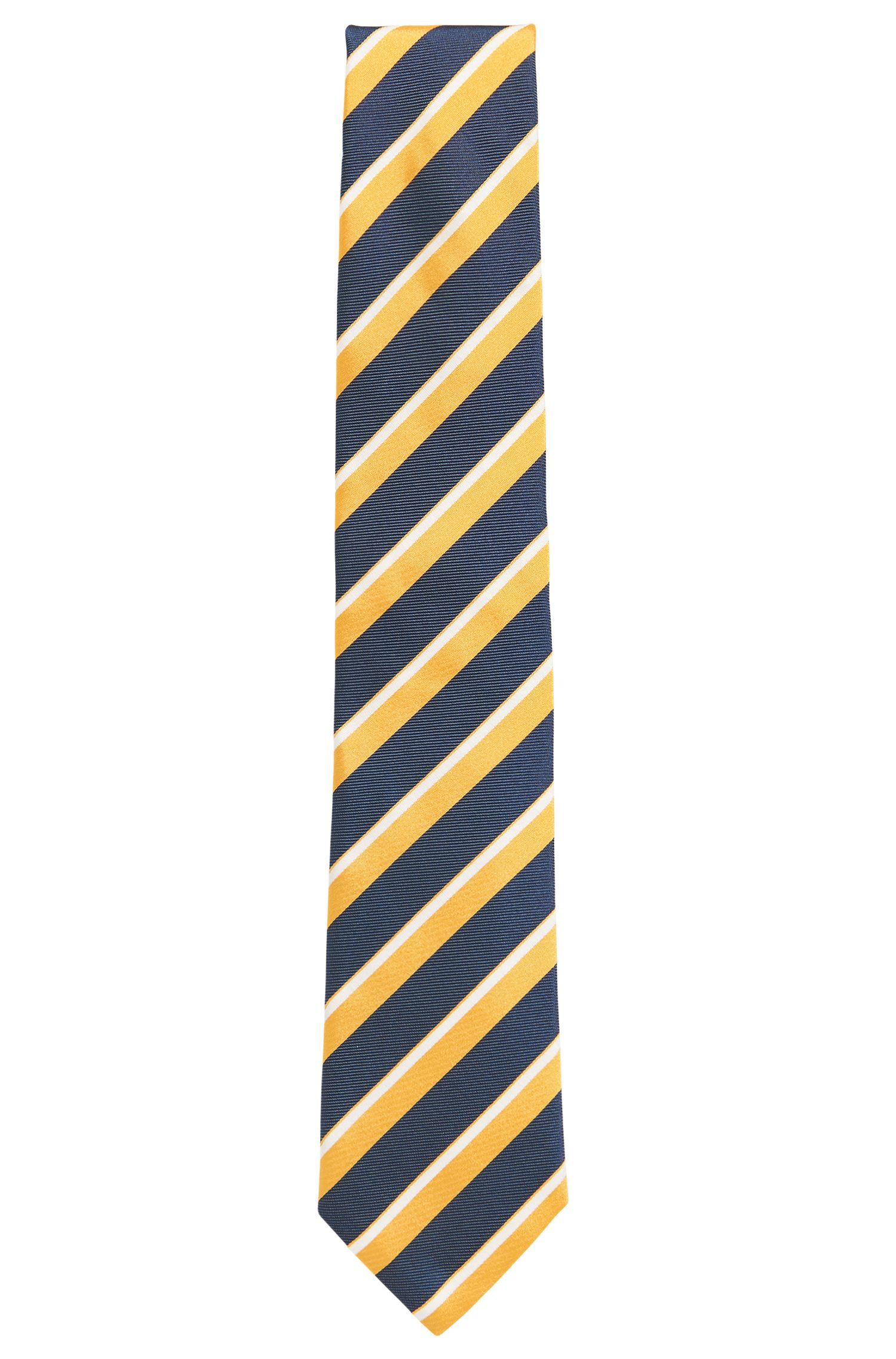 Striped Italian Silk Repp Tie