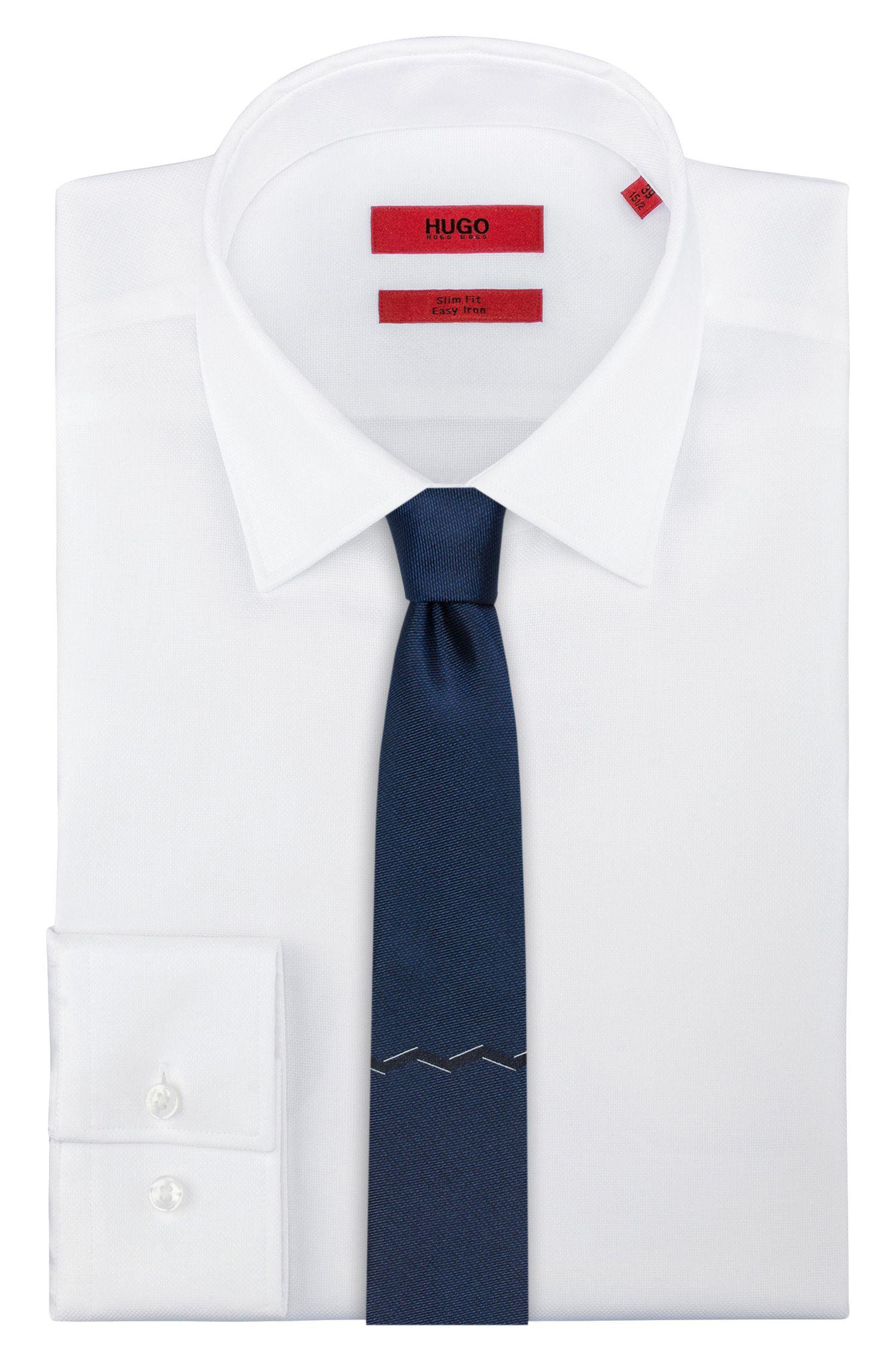 Geometric Italian Silk Slim Tie