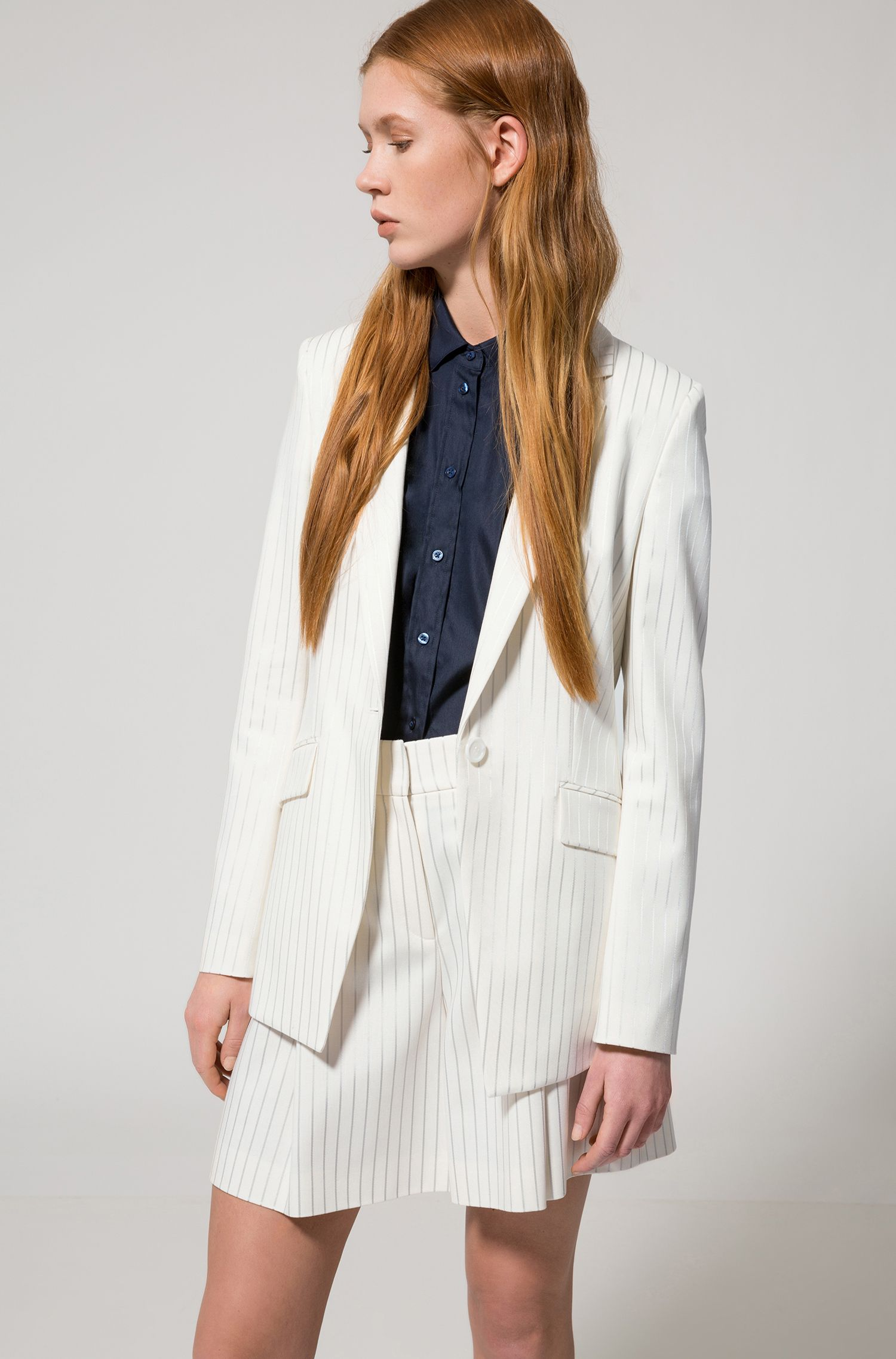 Striped Blazer | Agnesa, Natural