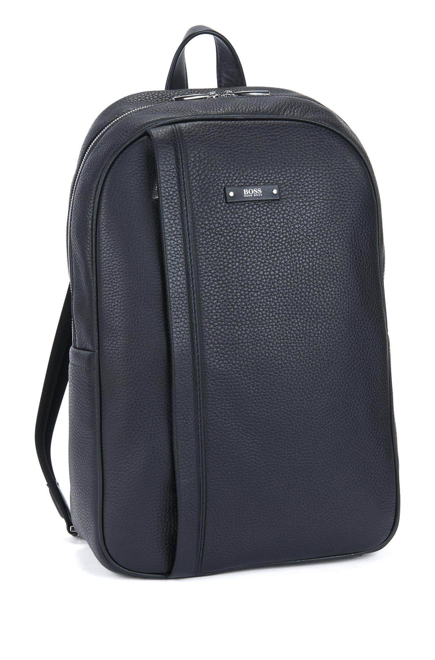 Leather Backpack | Traveller Backp N, Black