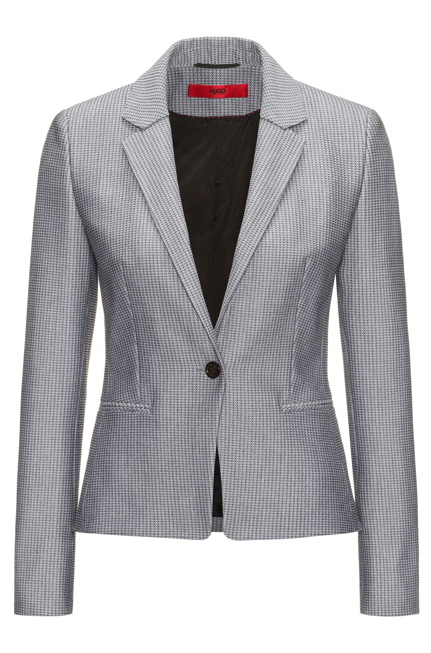 Patterned Cotton Blend Blazer | Asima