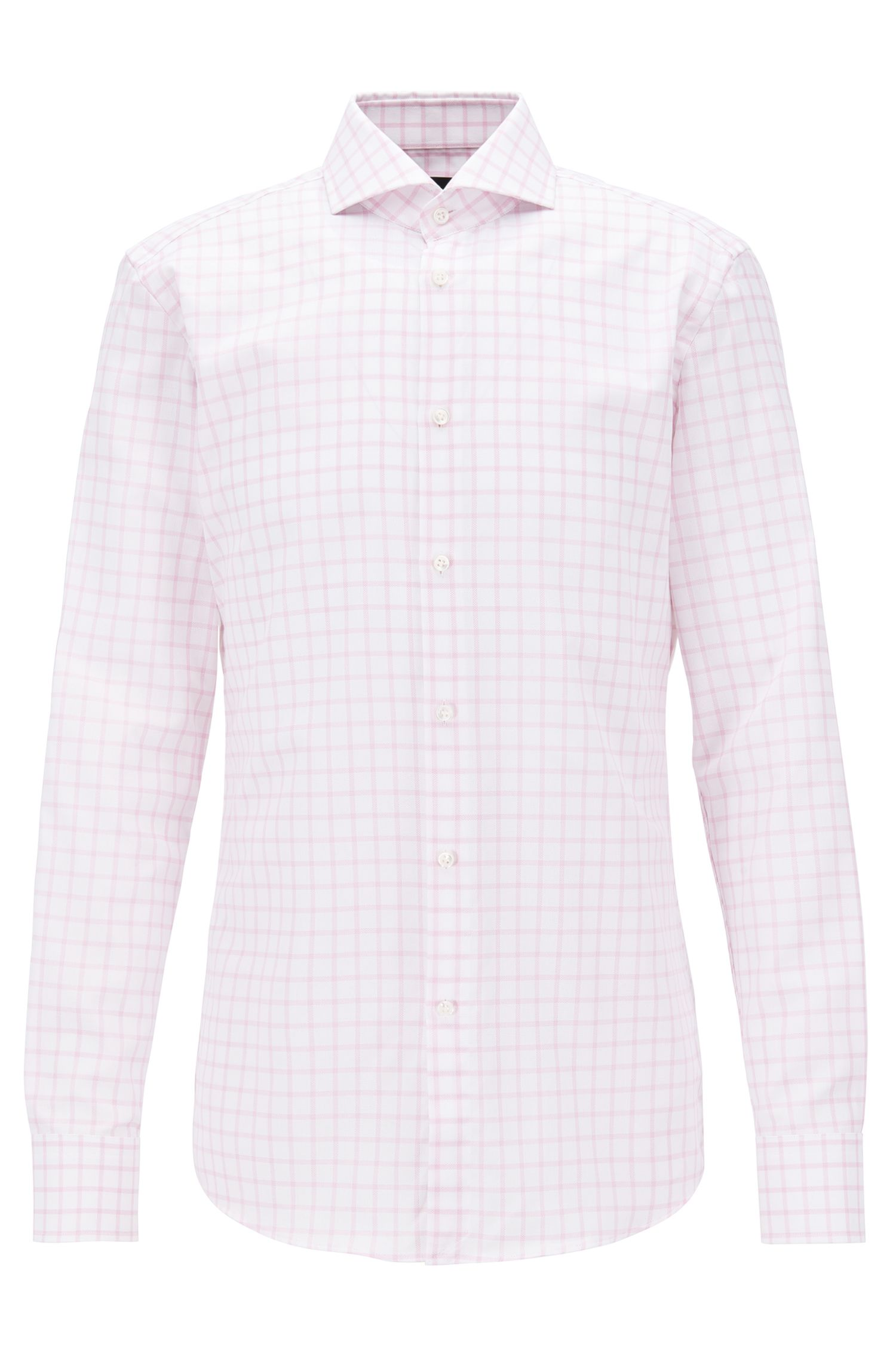 Check Cotton Dress Shirt, Slim Fit | T-Christo