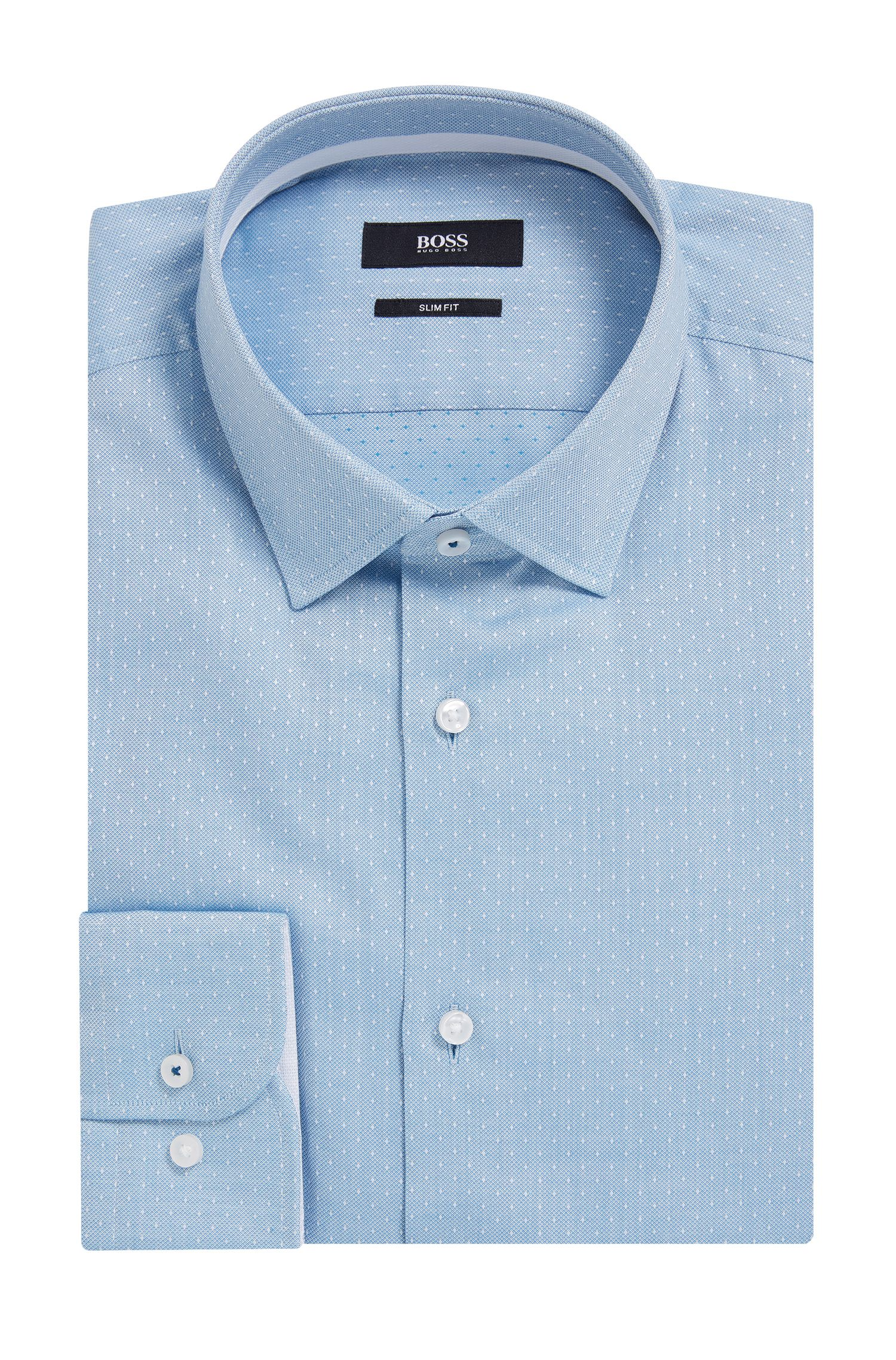 Dot-Print Cotton Dress Shirt, Slim Fit | Jesse