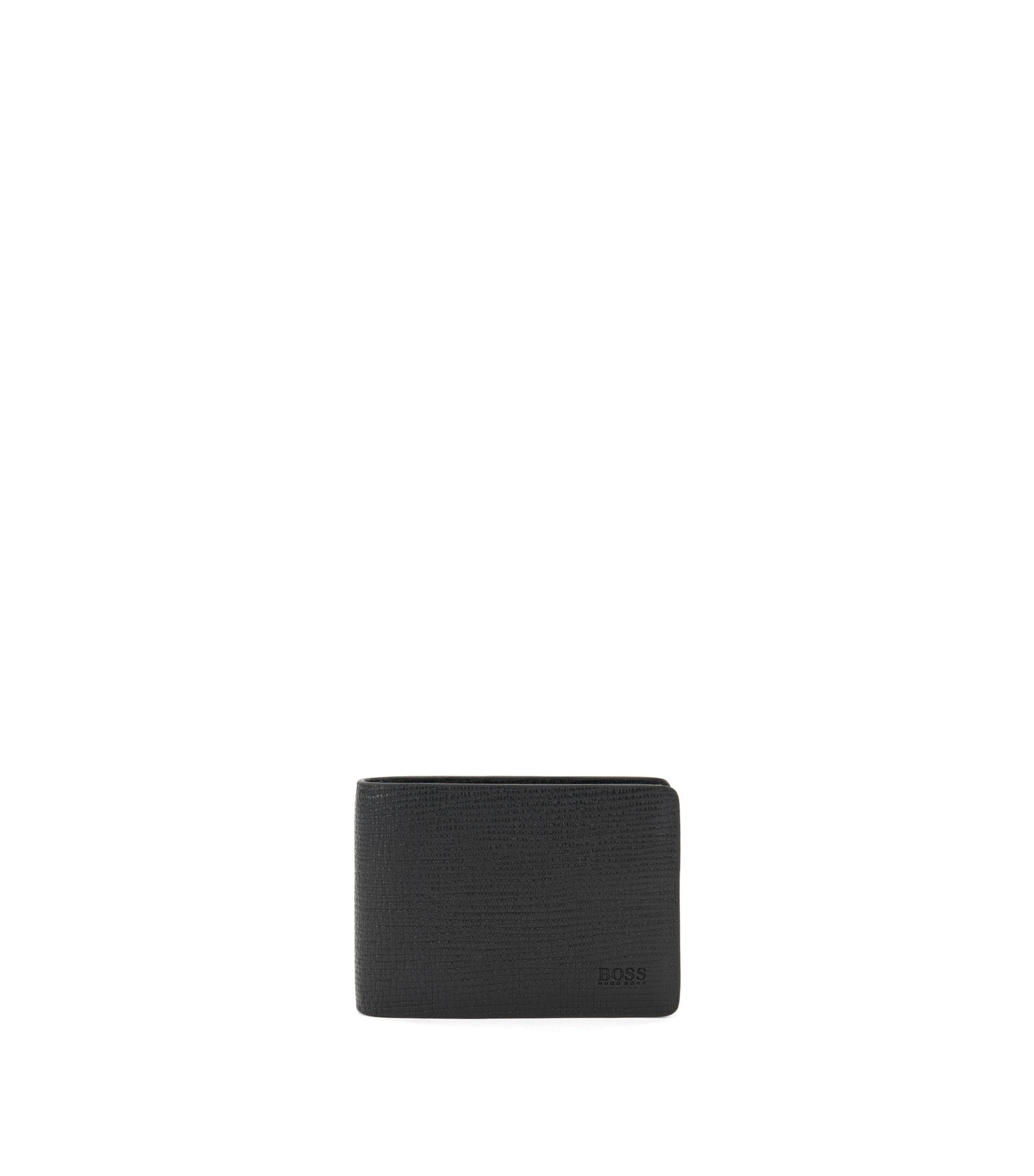 Leather Billfold Wallet | Timeless 6 CC Flap, Black