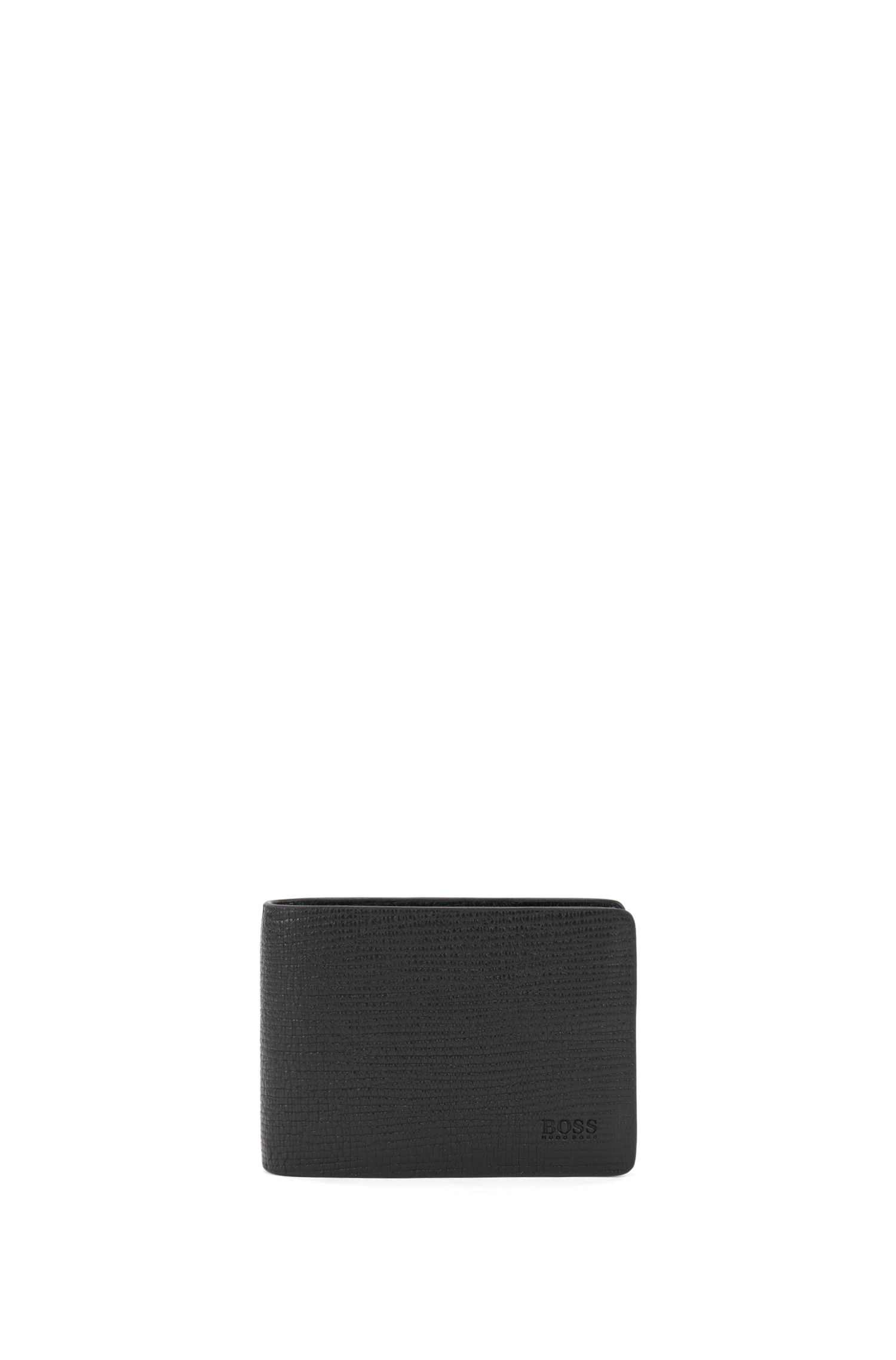 Leather Billfold Wallet | Timeless 6 CC Flap, Black